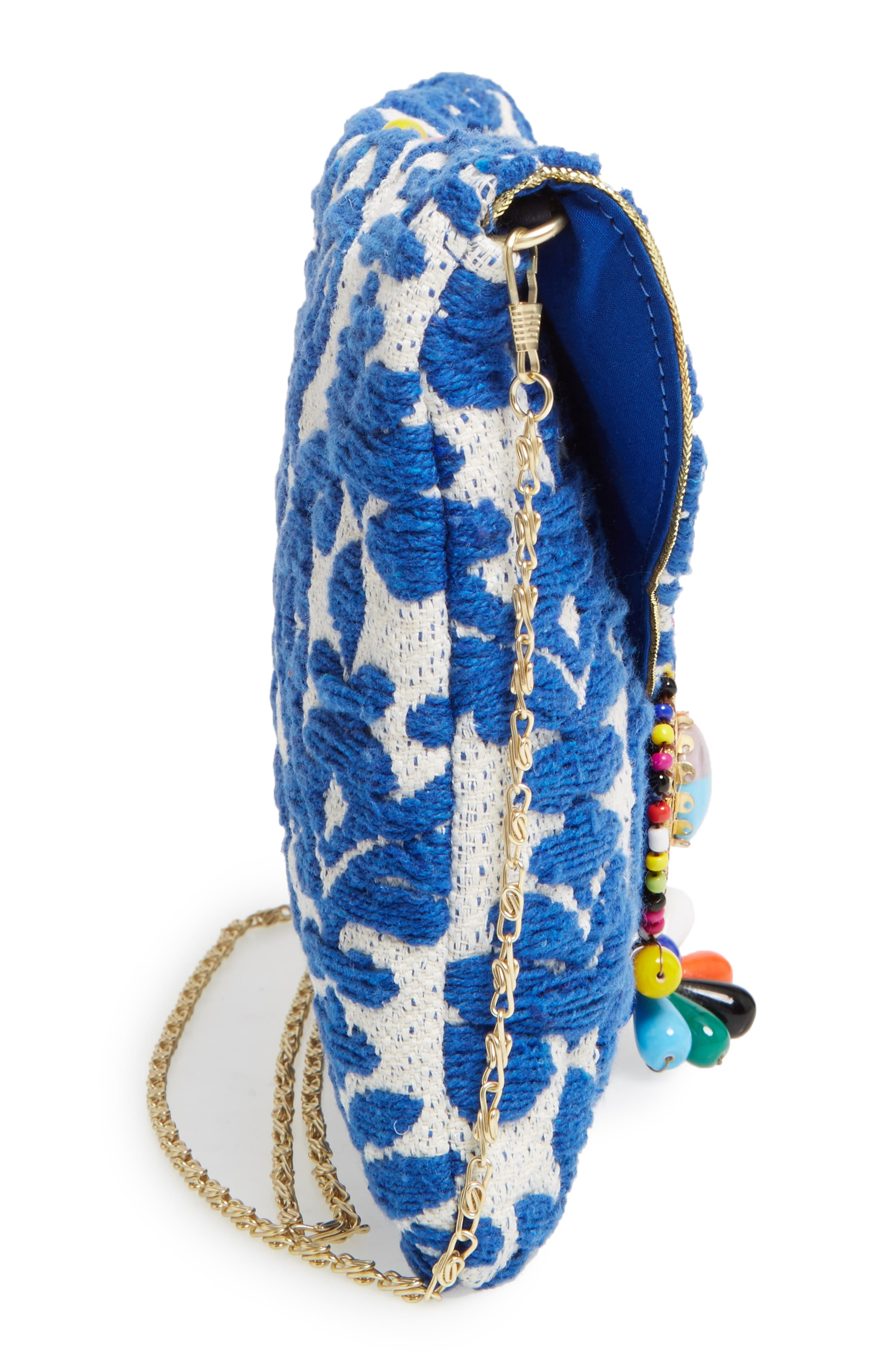 Beaded & Embroidered Clutch,                             Alternate thumbnail 5, color,                             400