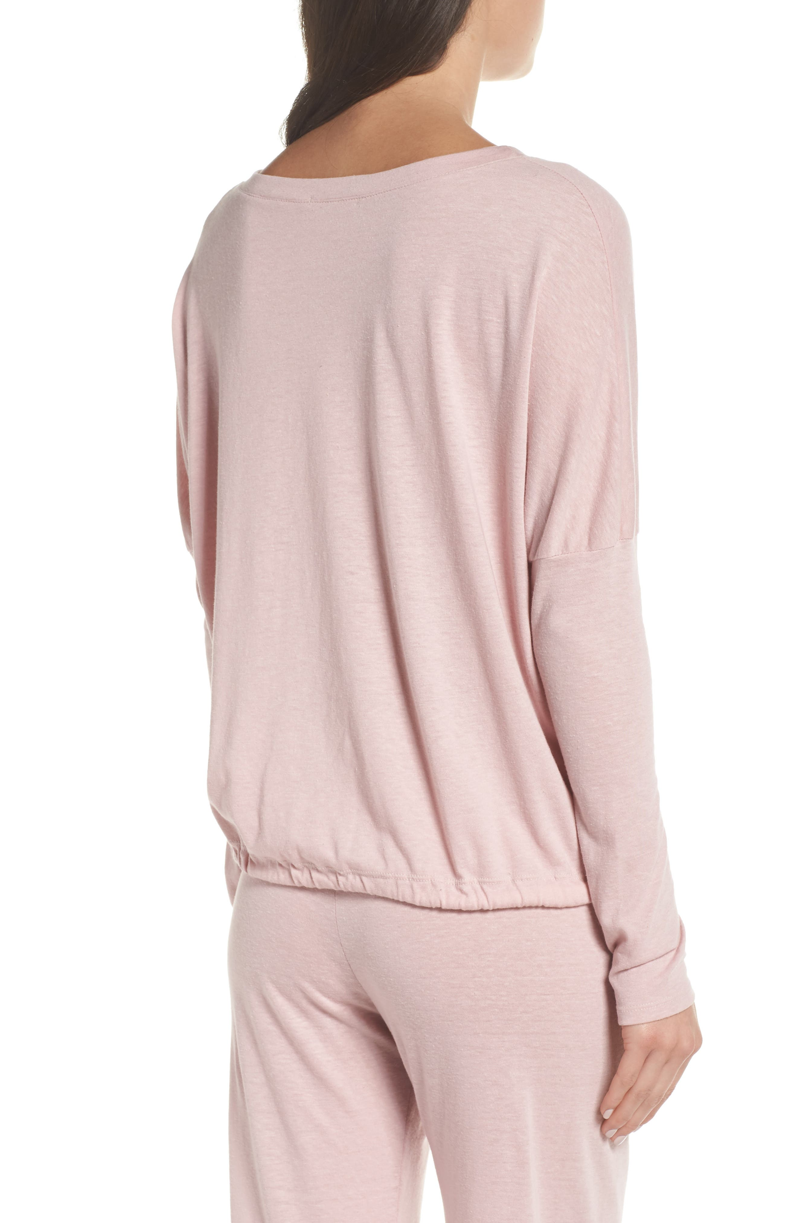 Heather Knit Slouchy Tee,                             Alternate thumbnail 2, color,                             CASHMERE ROSE
