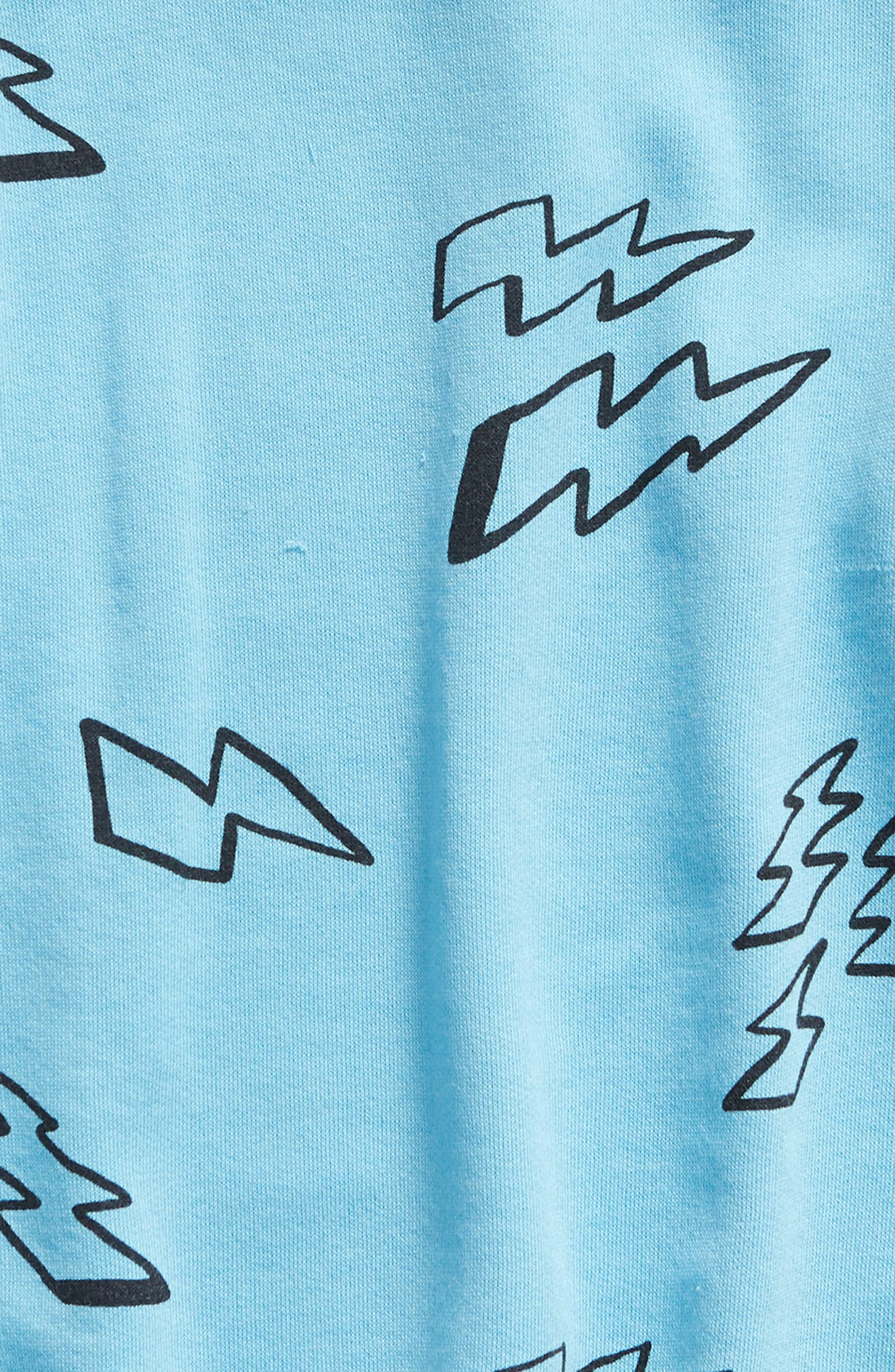 STEM,                             Swoop Raglan Top,                             Alternate thumbnail 2, color,                             BLUE ETHER MARKER BOLTS
