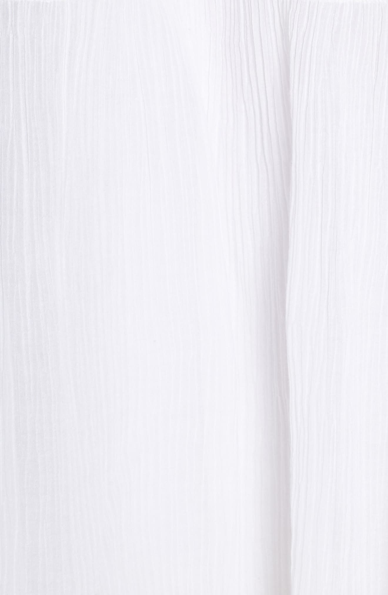 Mala Crinkle Shift Dress,                             Alternate thumbnail 6, color,                             WHITE