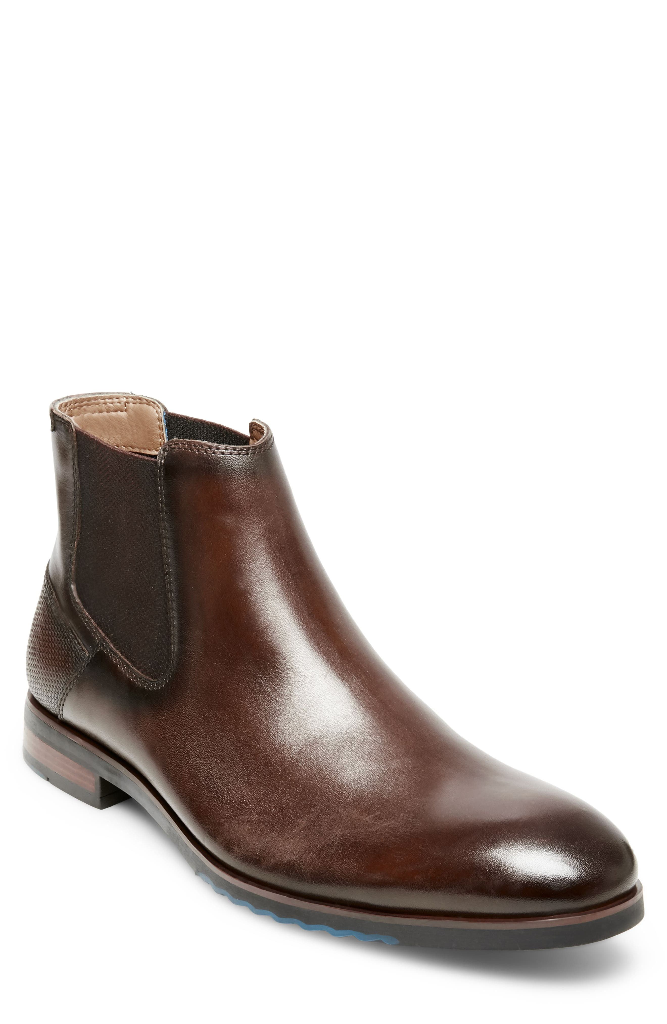 Leston Chelsea Boot,                             Main thumbnail 1, color,                             BROWN LEATHER