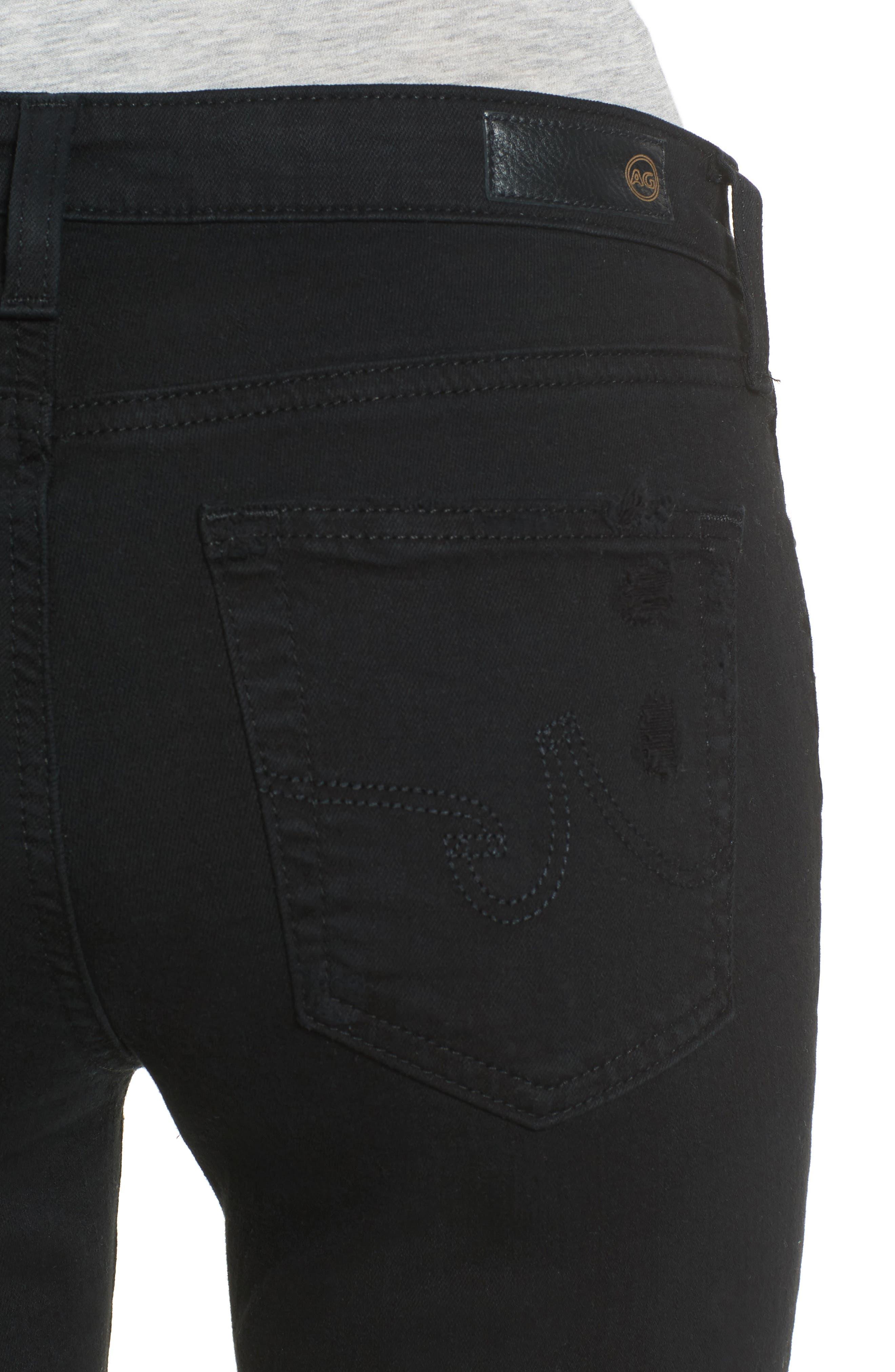Prima Mid Rise Cigarette Jeans,                             Alternate thumbnail 4, color,                             5 YEARS BLACK DESTRUCTED
