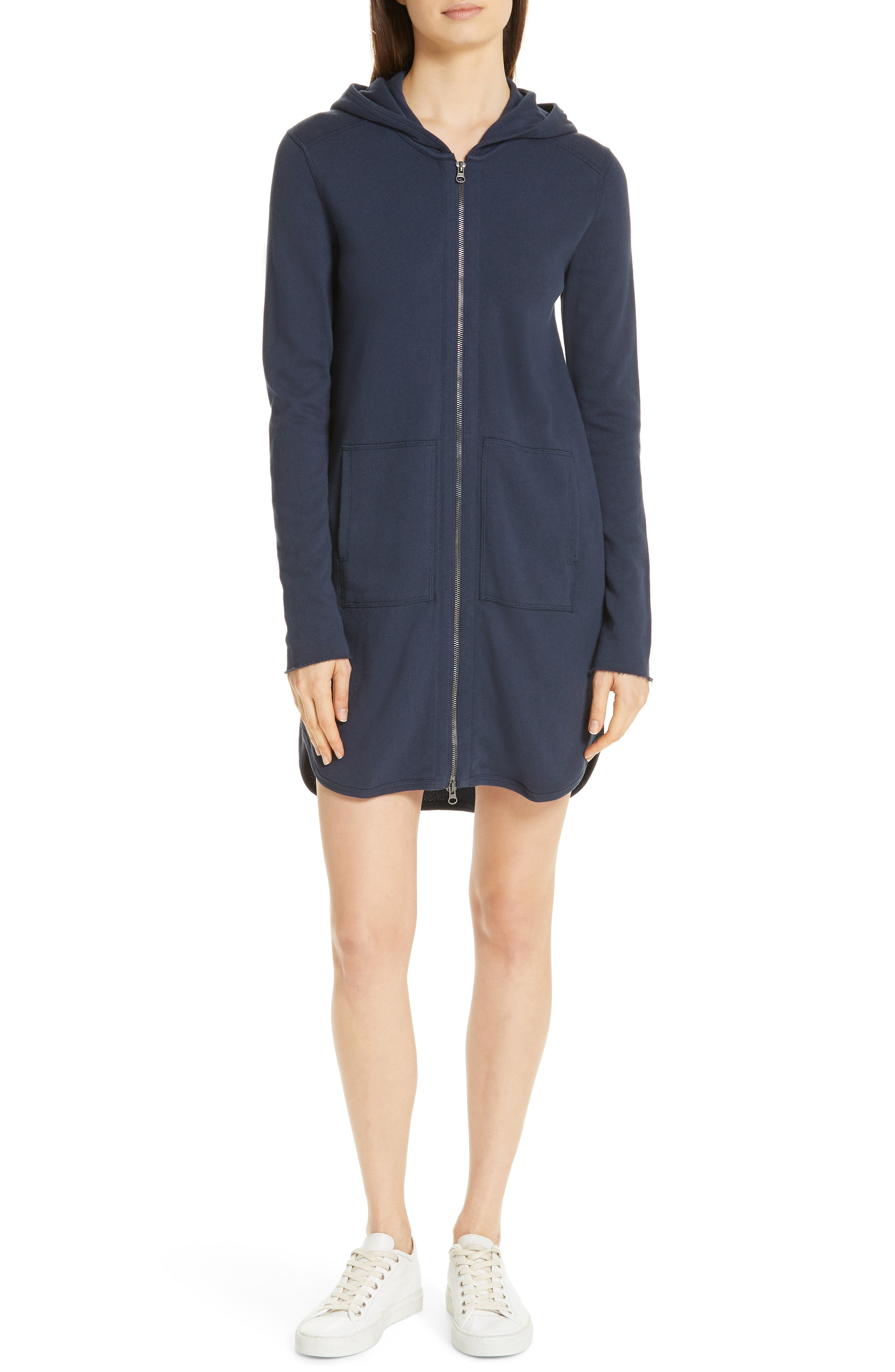 Atm Anthony Thomas Melillo Hooded French Terry Dress, Black