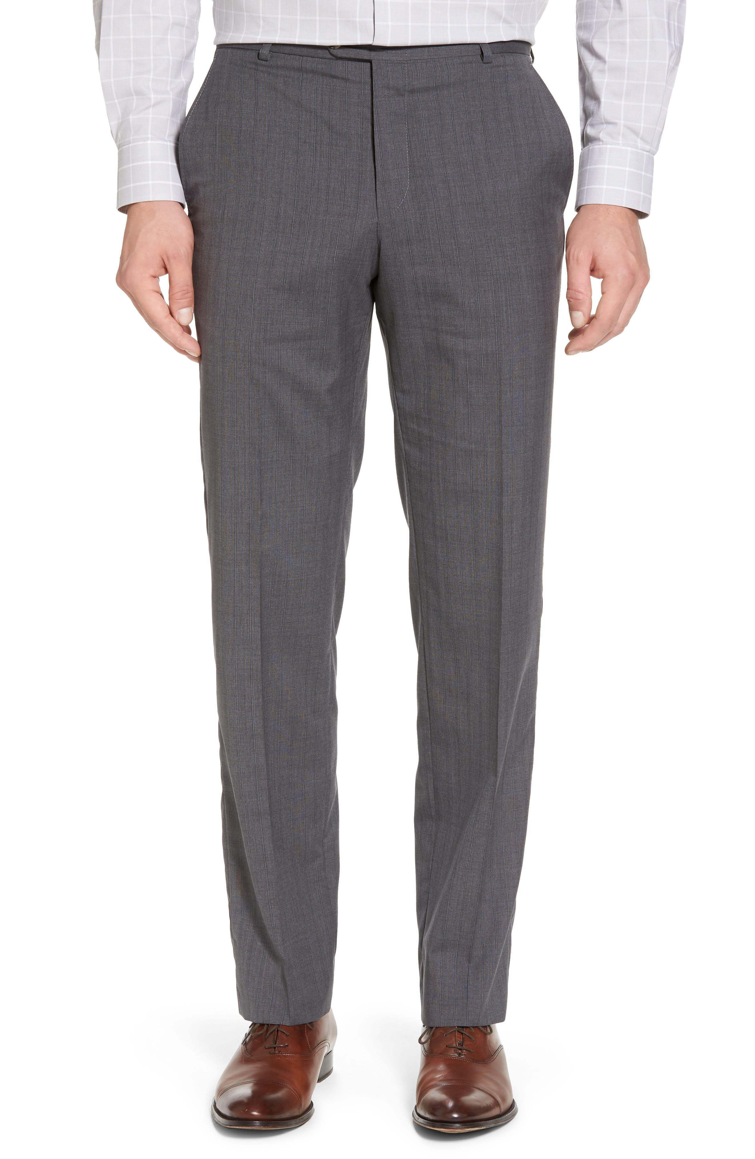 Classic B Fit Stripe Wool Suit,                             Alternate thumbnail 6, color,