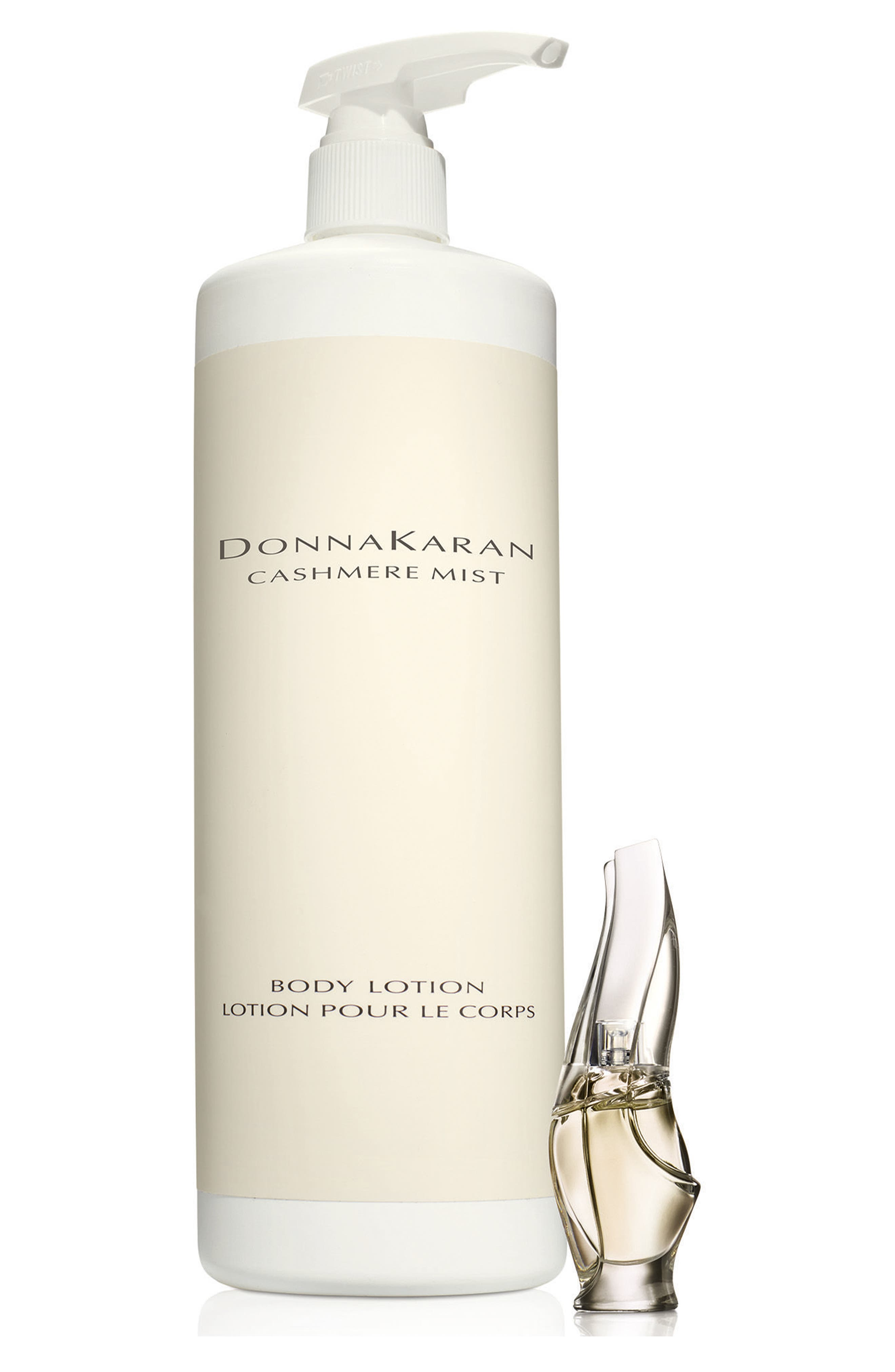 Donna Karan Cashmere Mist Deluxe Lotion & Essence Mini Eau de Parfum,                             Main thumbnail 1, color,                             NO COLOR