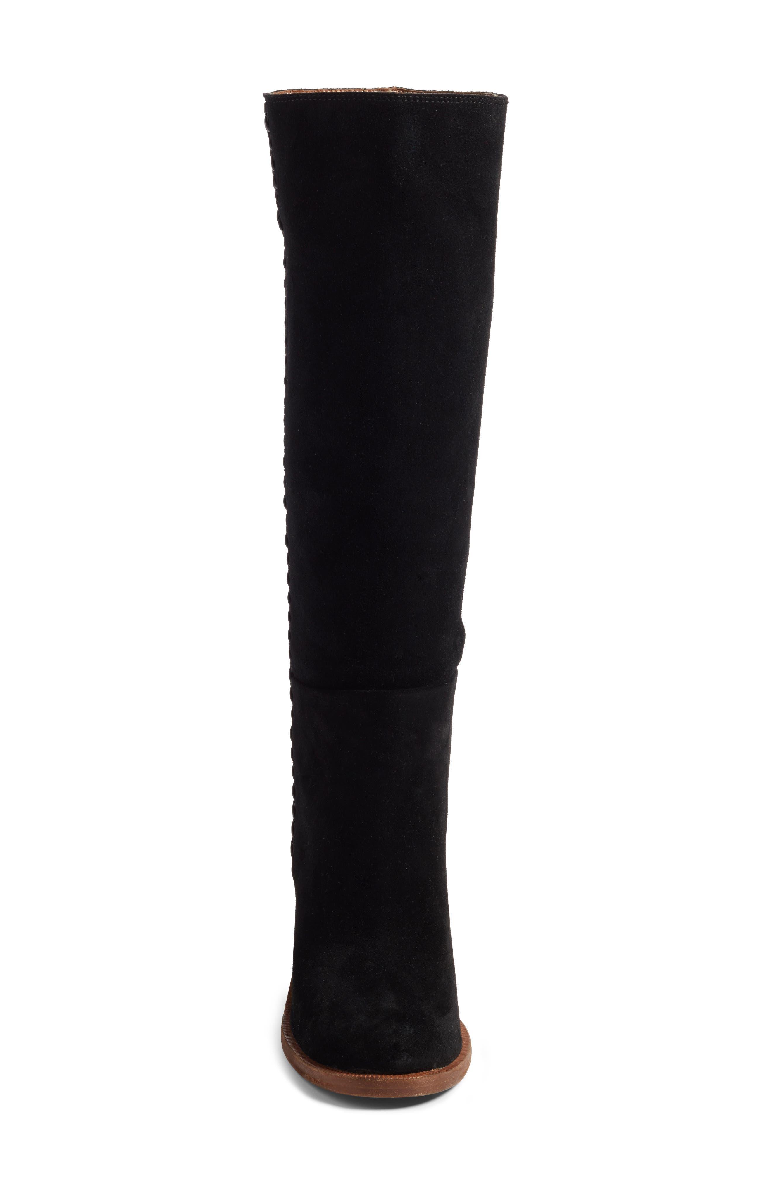 Maeva Knee High Boot,                             Alternate thumbnail 4, color,                             001
