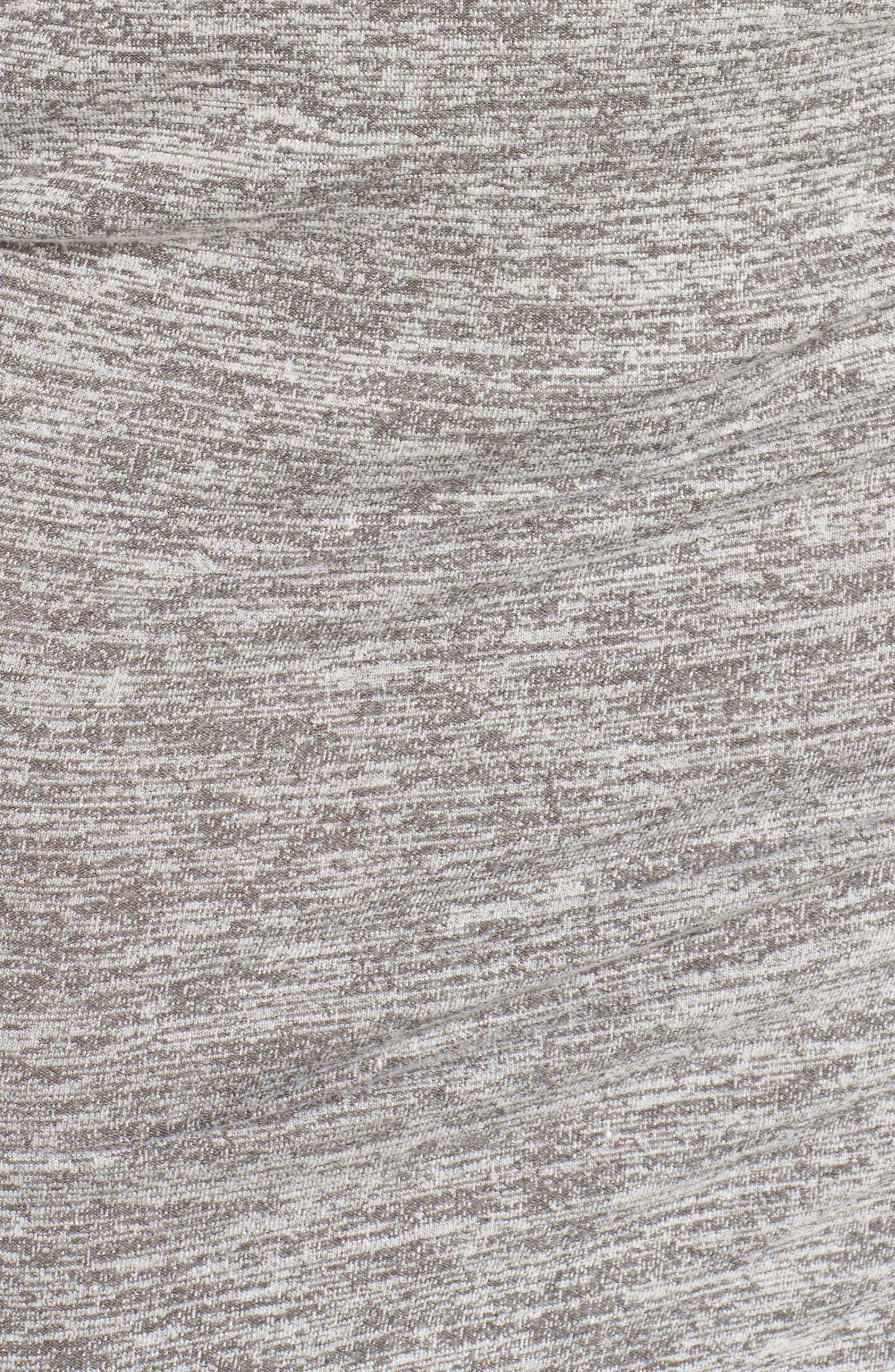Faux Wrap Dress,                             Alternate thumbnail 6, color,                             GREY CLOUDY HEATHER