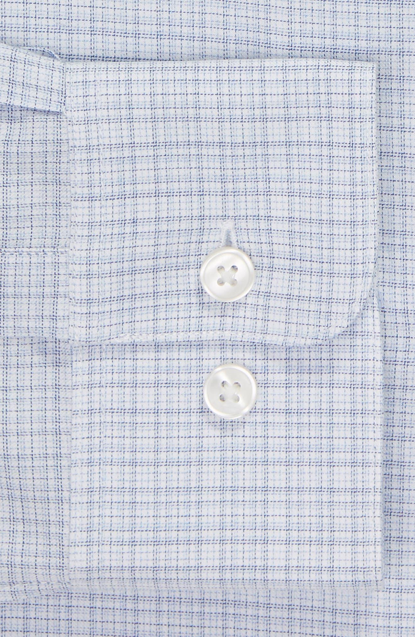 Regular Fit Plaid Dress Shirt,                             Alternate thumbnail 6, color,                             SKY BLUE