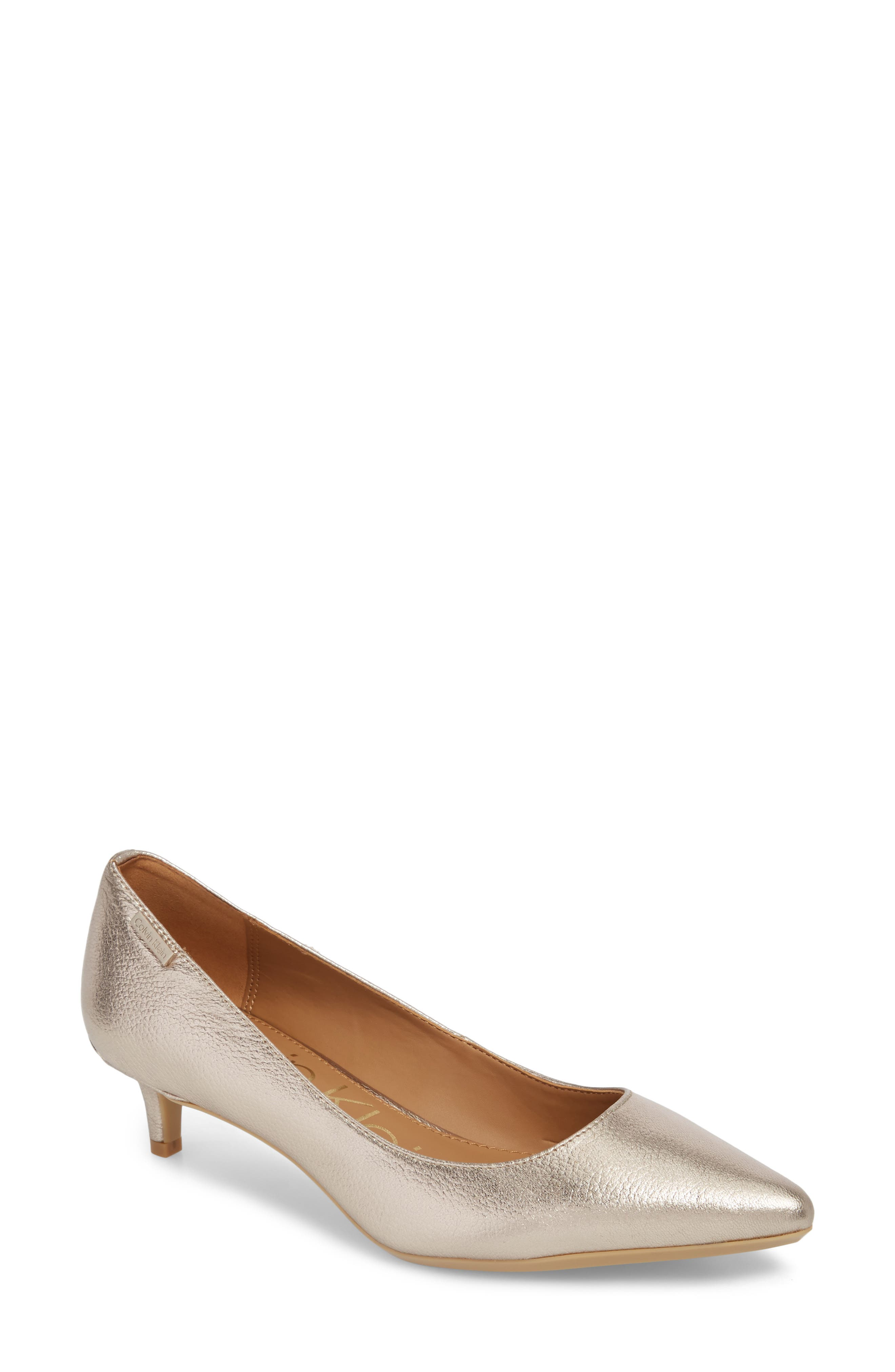 Gabrianna Pump,                         Main,                         color, SOFT PLATINUM LEATHER