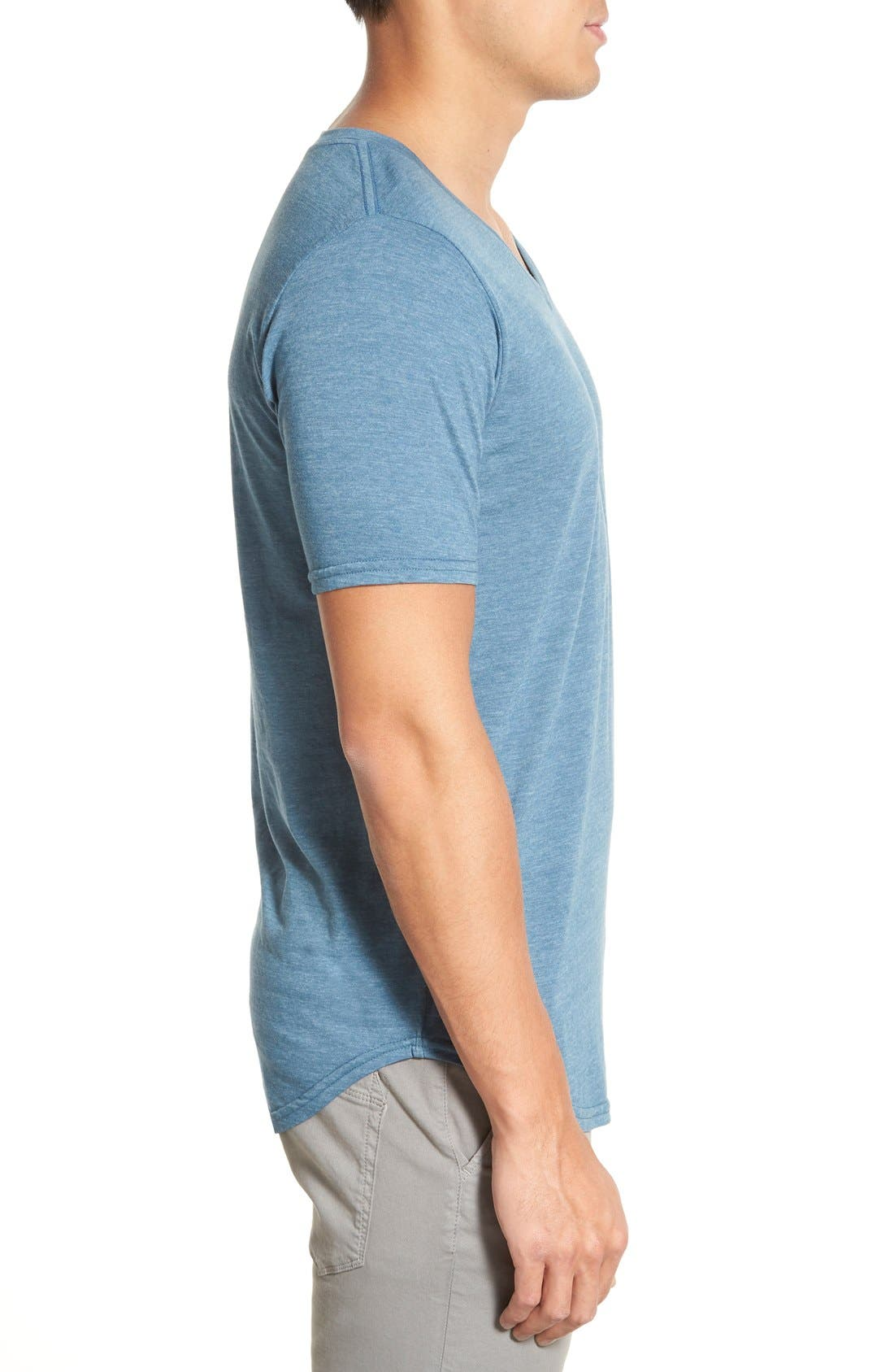 Scallop Triblend V-Neck T-Shirt,                             Alternate thumbnail 67, color,