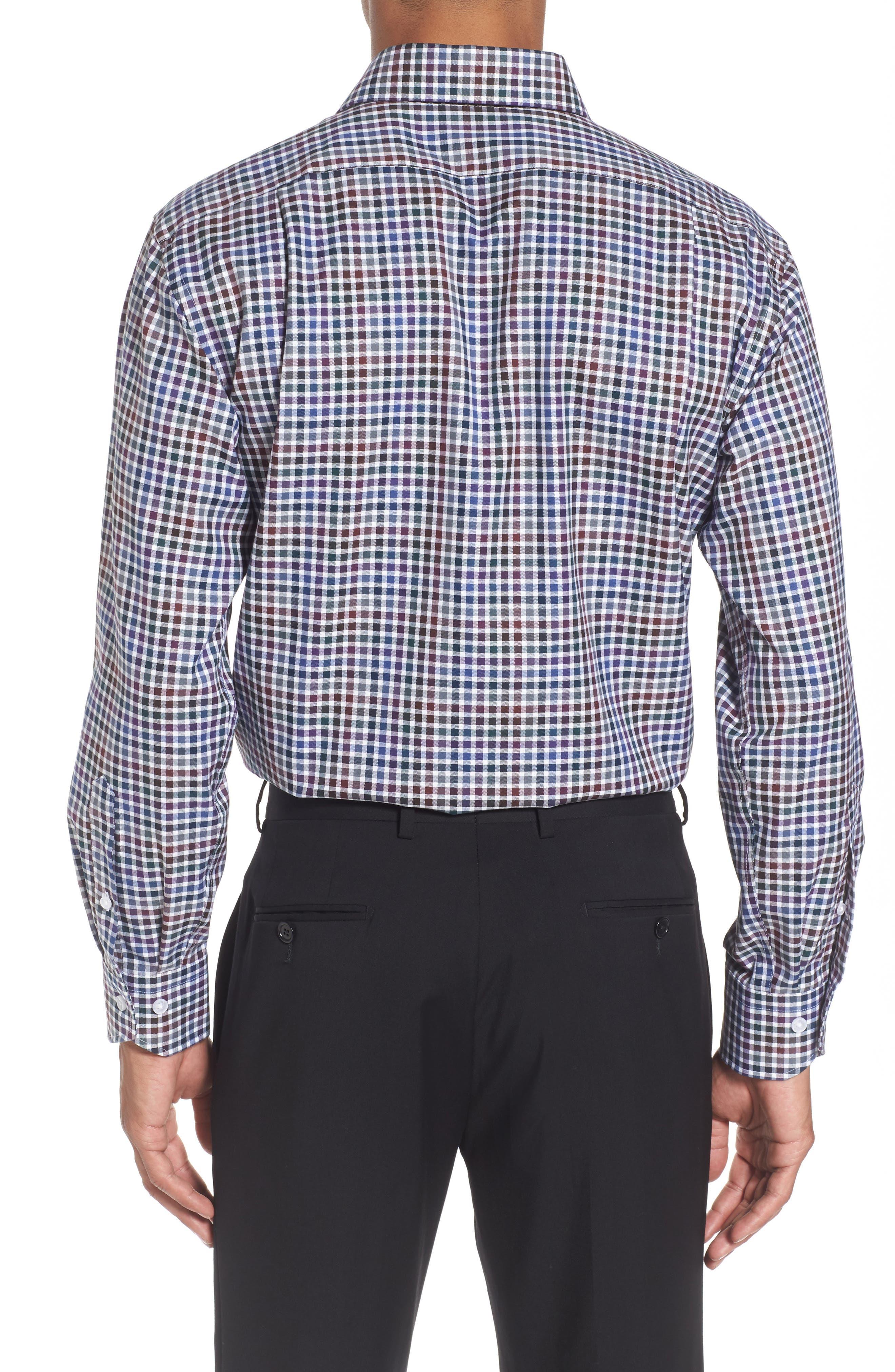 Trim Fit Check Dress Shirt,                             Alternate thumbnail 2, color,                             510