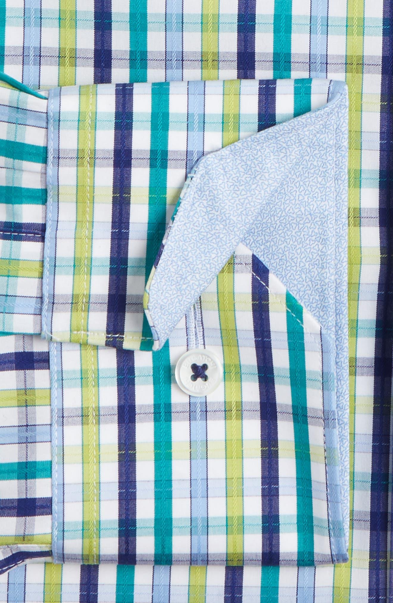 Trim Fit Check Dress Shirt,                             Alternate thumbnail 2, color,                             313