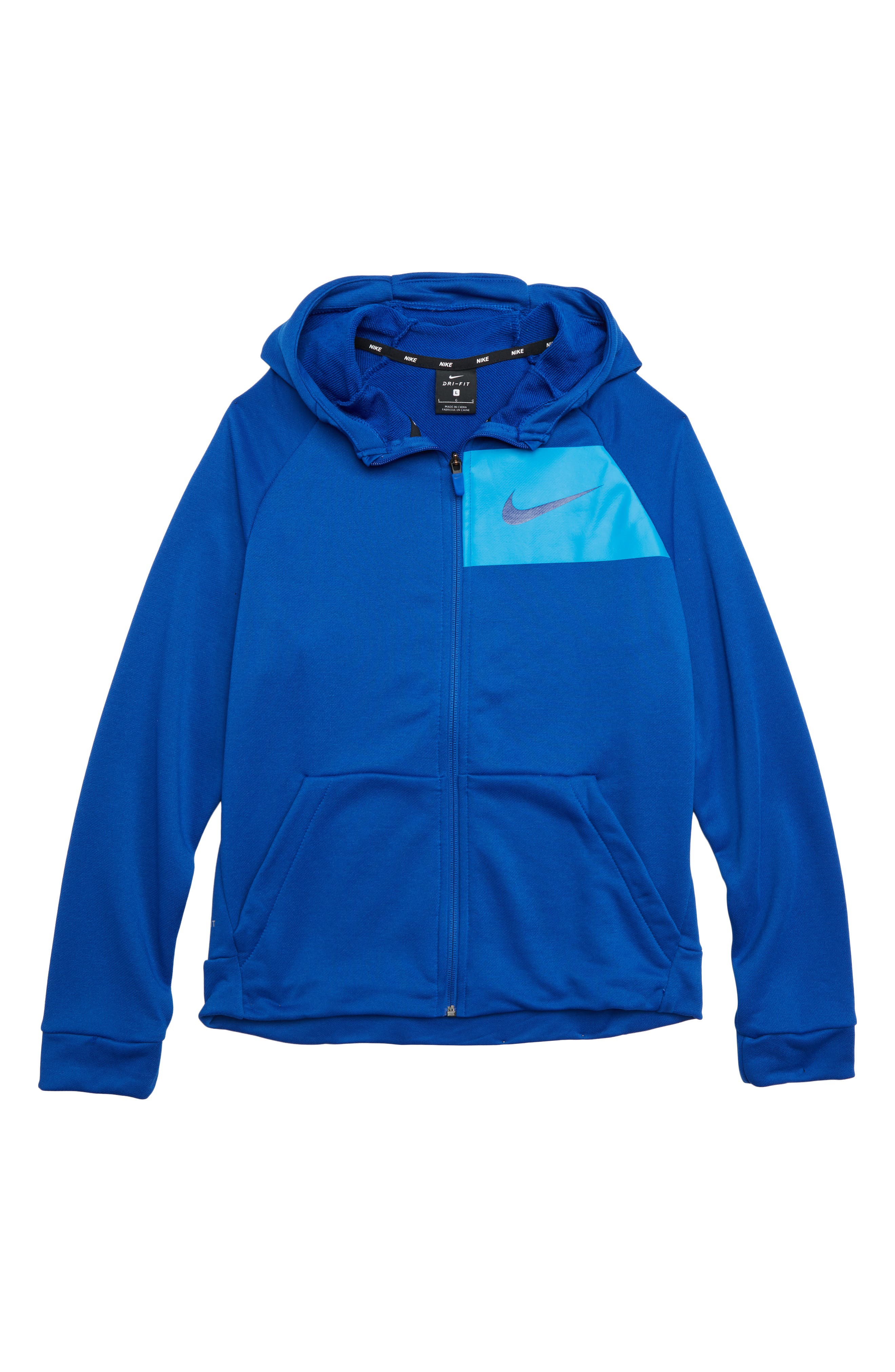 Dry Full Zip Hoodie,                             Main thumbnail 1, color,                             GAME ROYAL/ BLUE HERO