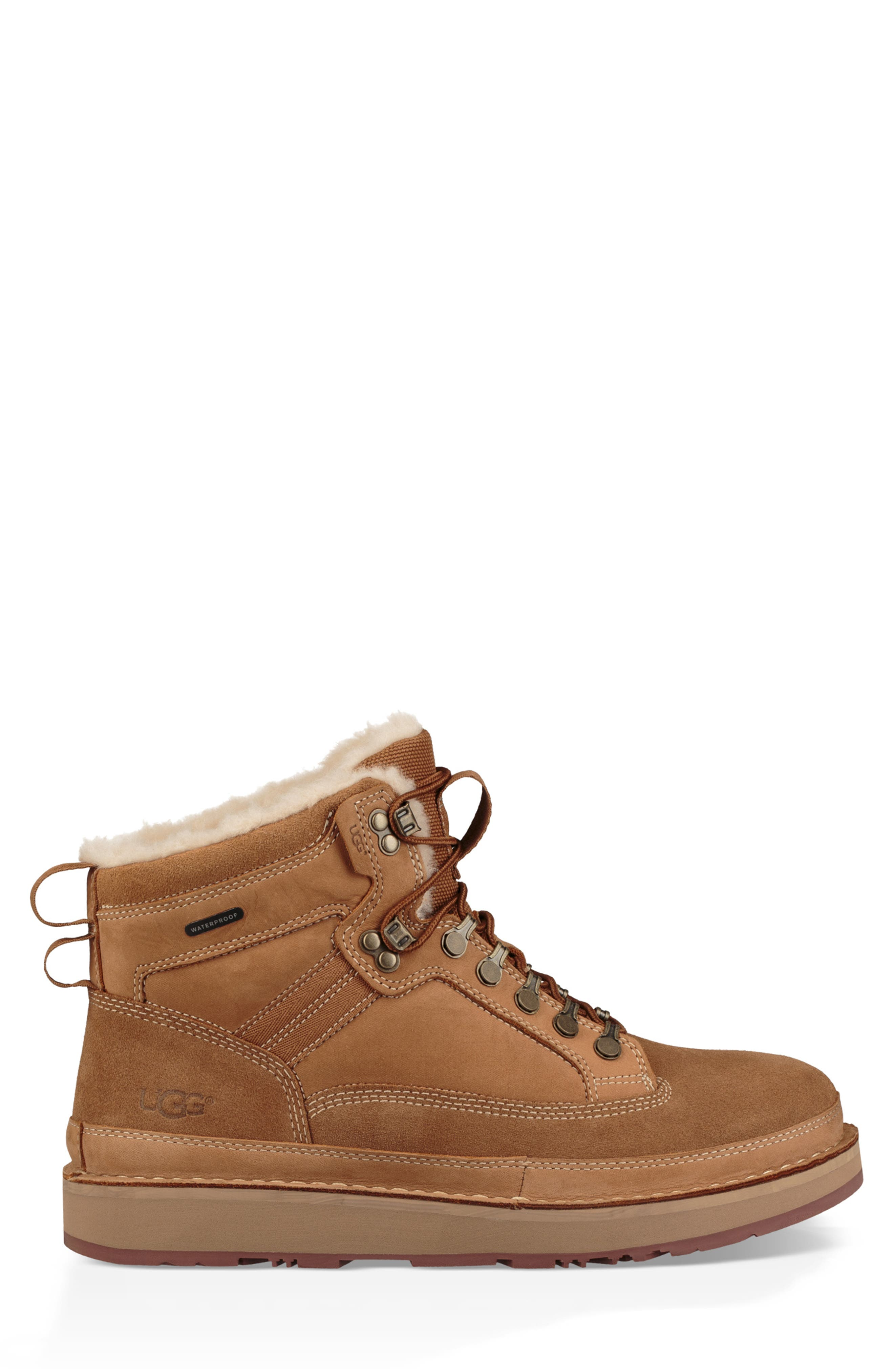 Avalanche Hiker Waterproof Boot,                             Alternate thumbnail 3, color,                             CHESTNUT