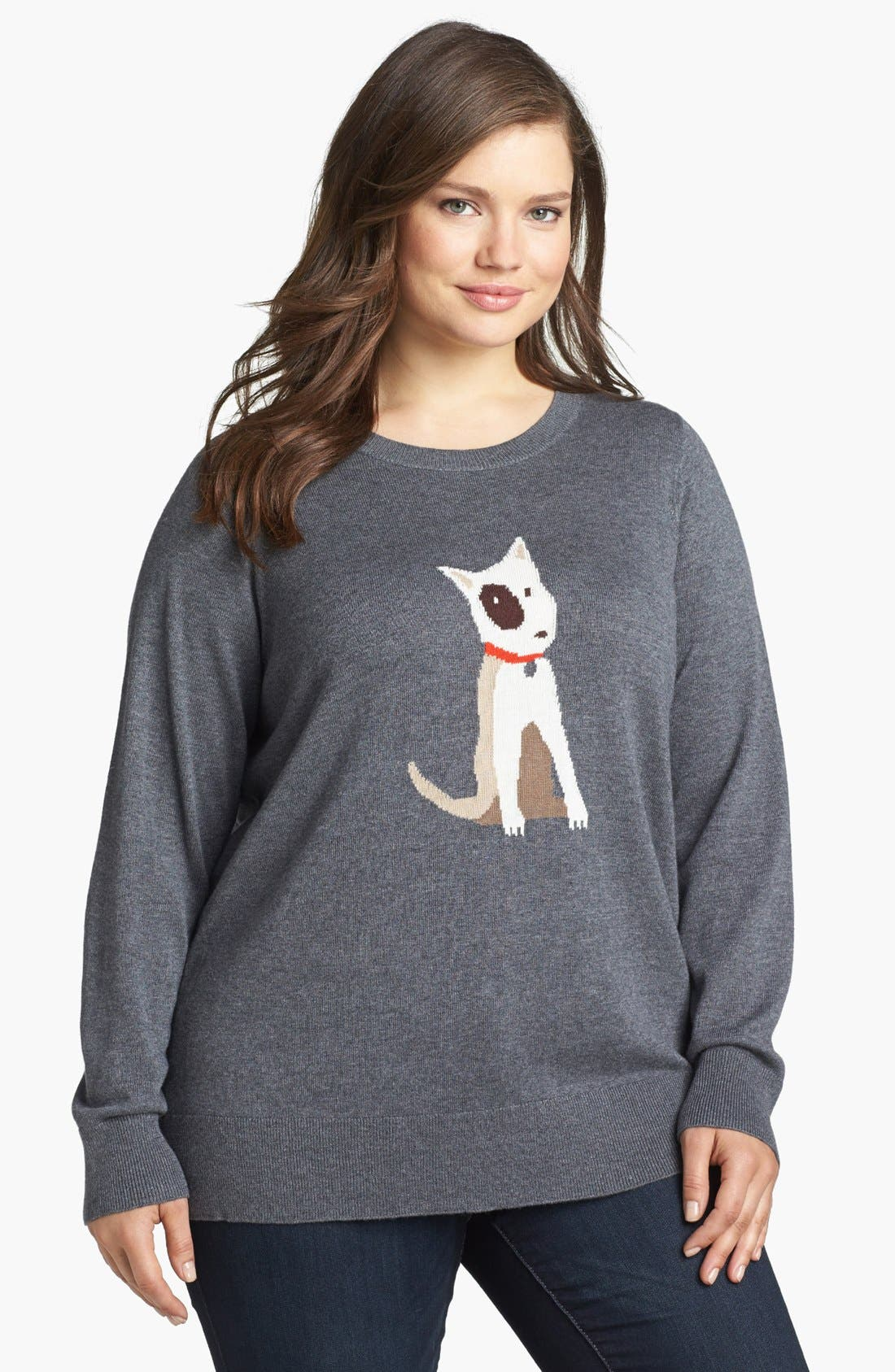 Intarsia Crewneck Sweater,                             Main thumbnail 3, color,