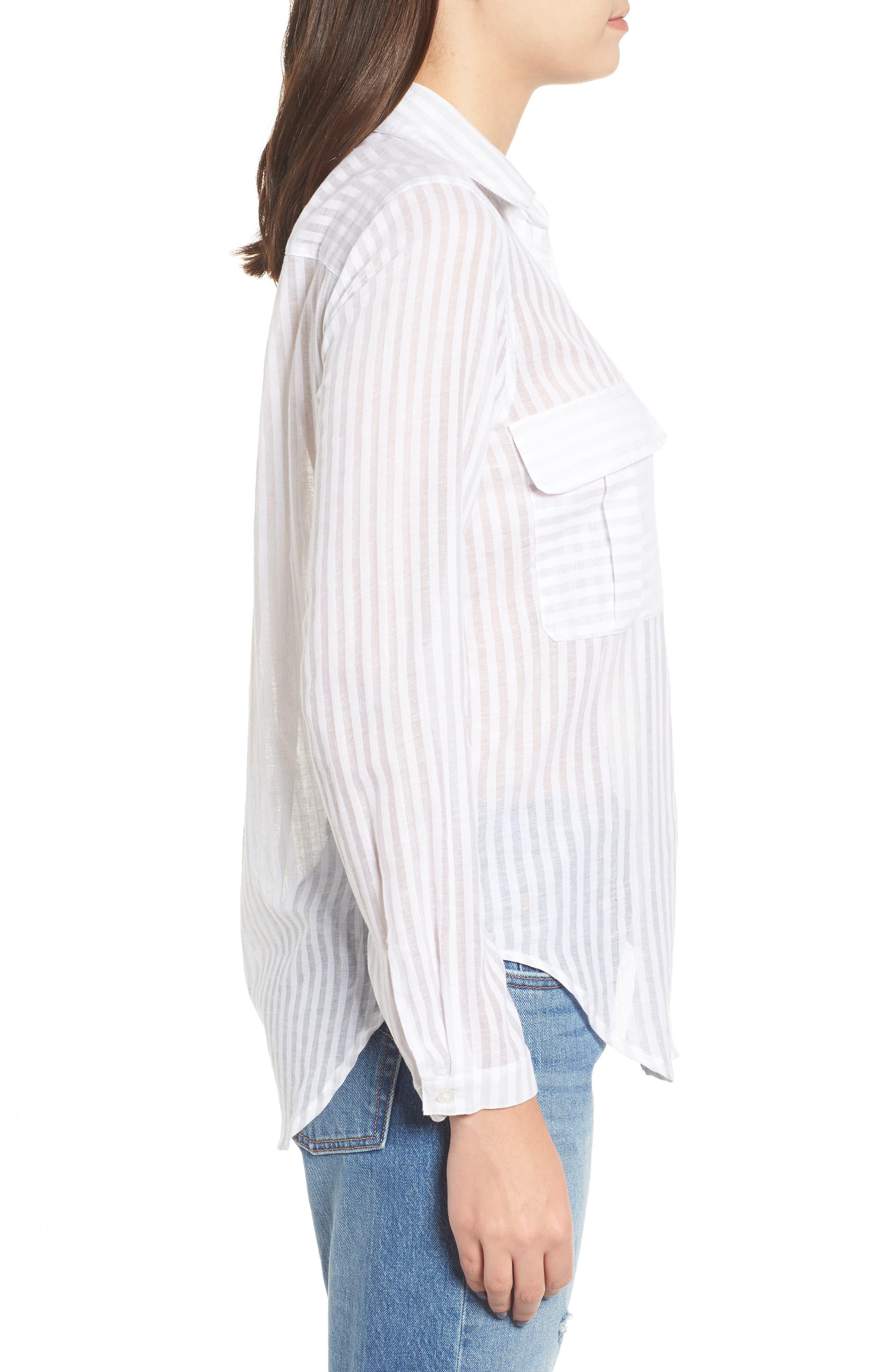 Shadow Stripe Shirt,                             Alternate thumbnail 3, color,                             025