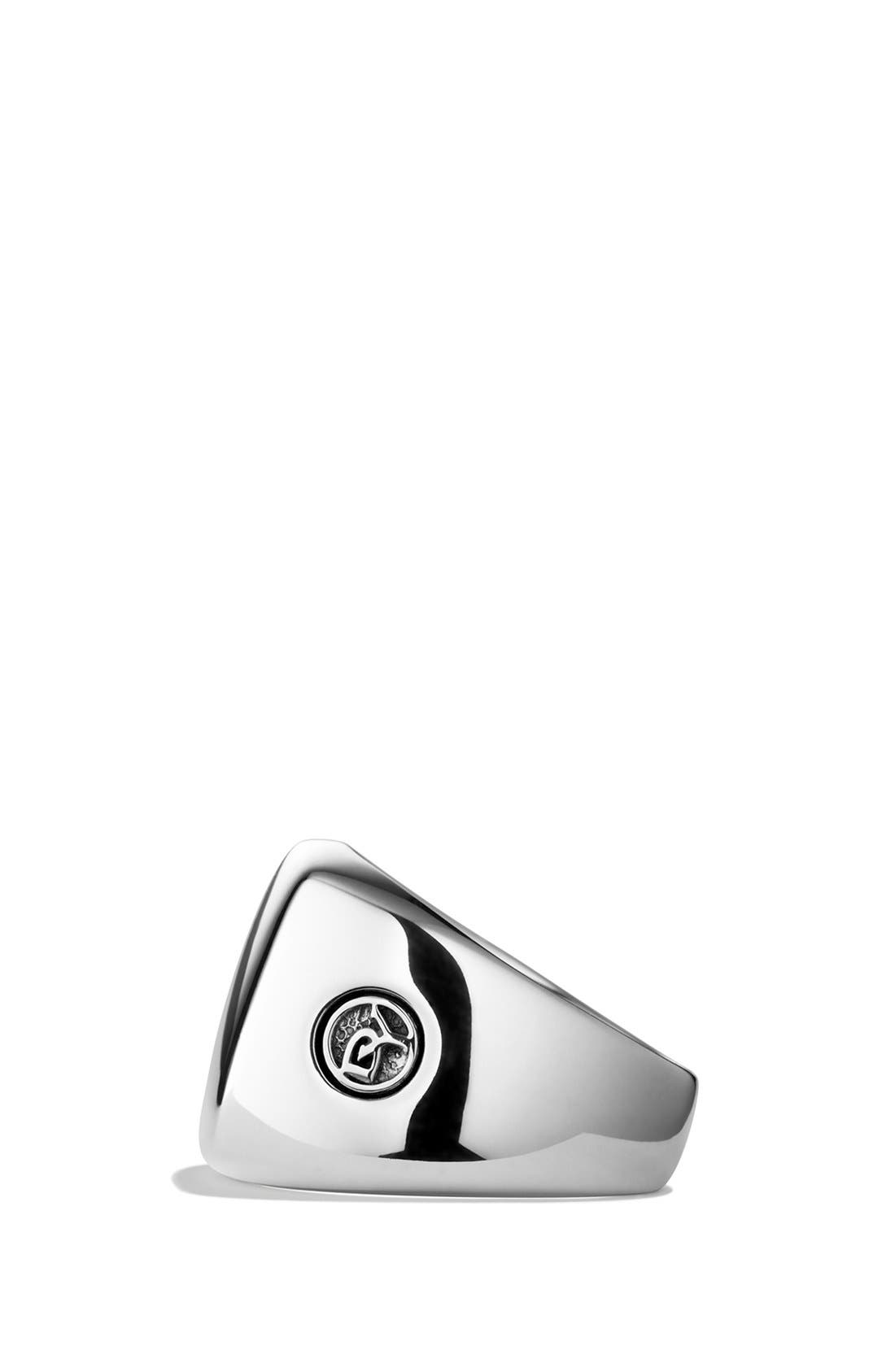 'Chevron' Signet Ring,                             Alternate thumbnail 8, color,