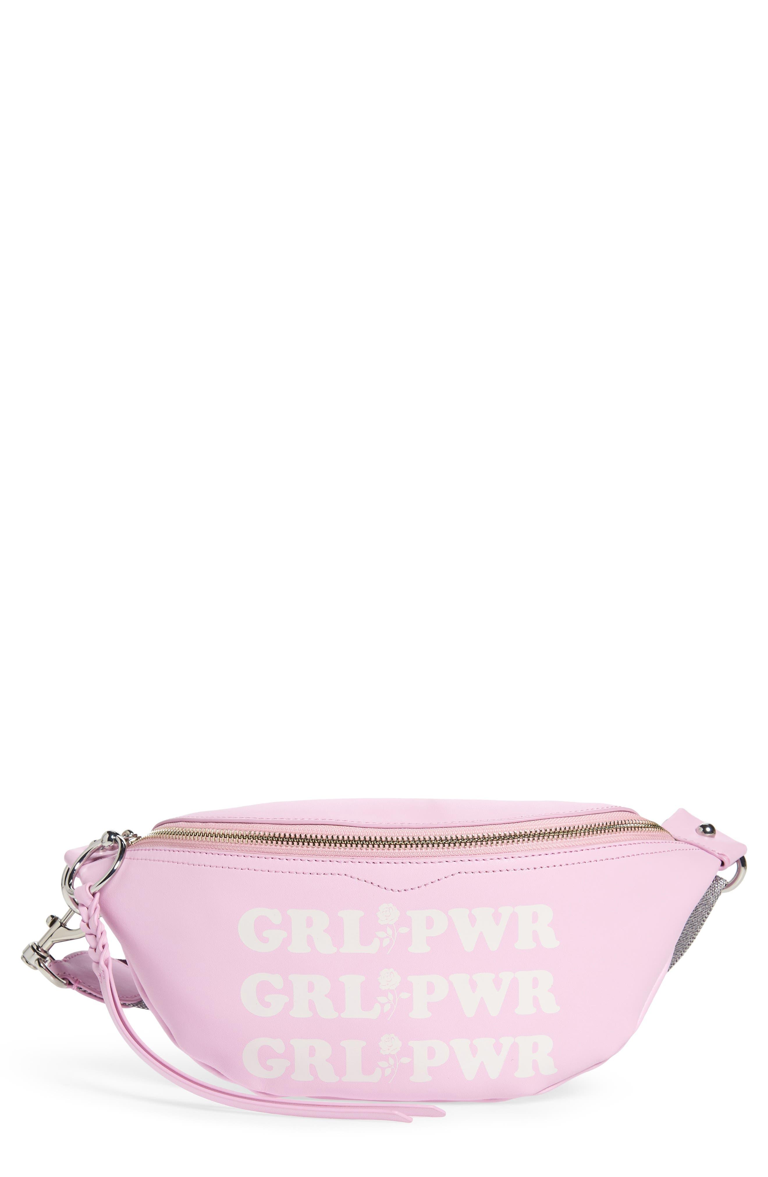 REBECCA MINKOFF Bree - GRL PWR Leather Belt Bag, Main, color, 500