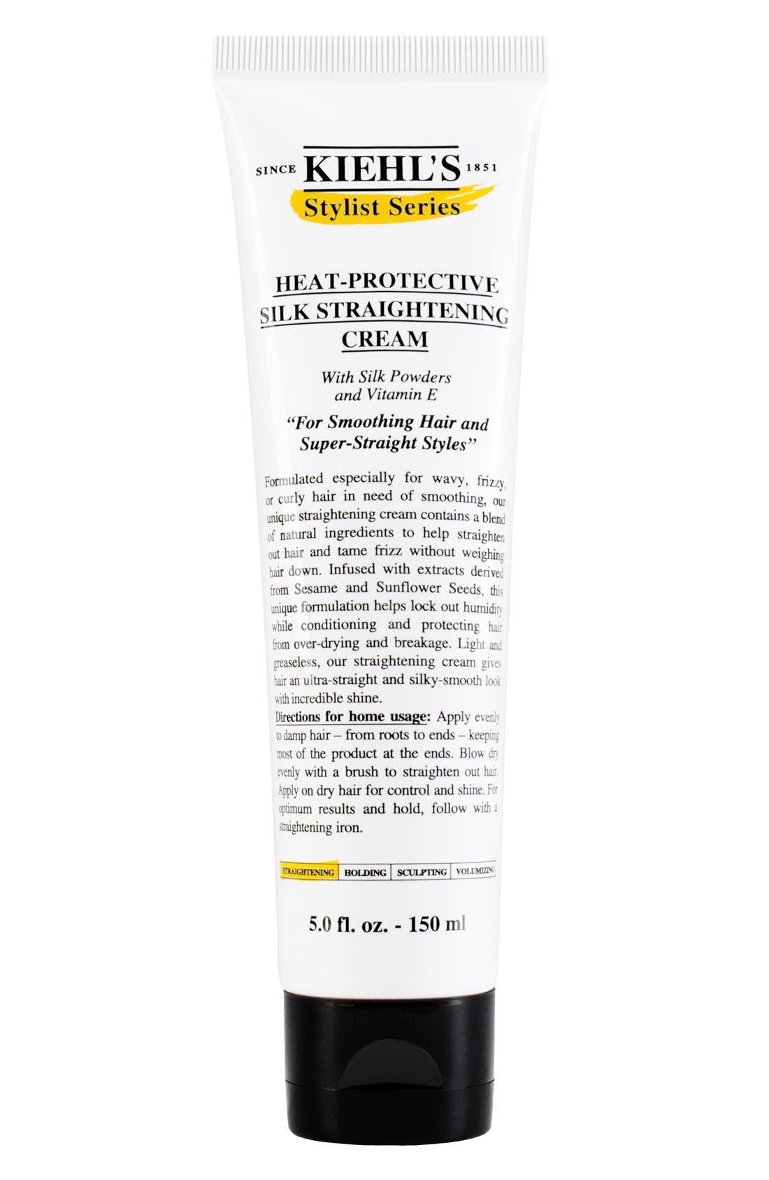 Heat-Protective Silk Straightening Cream,                         Main,                         color, NO COLOR