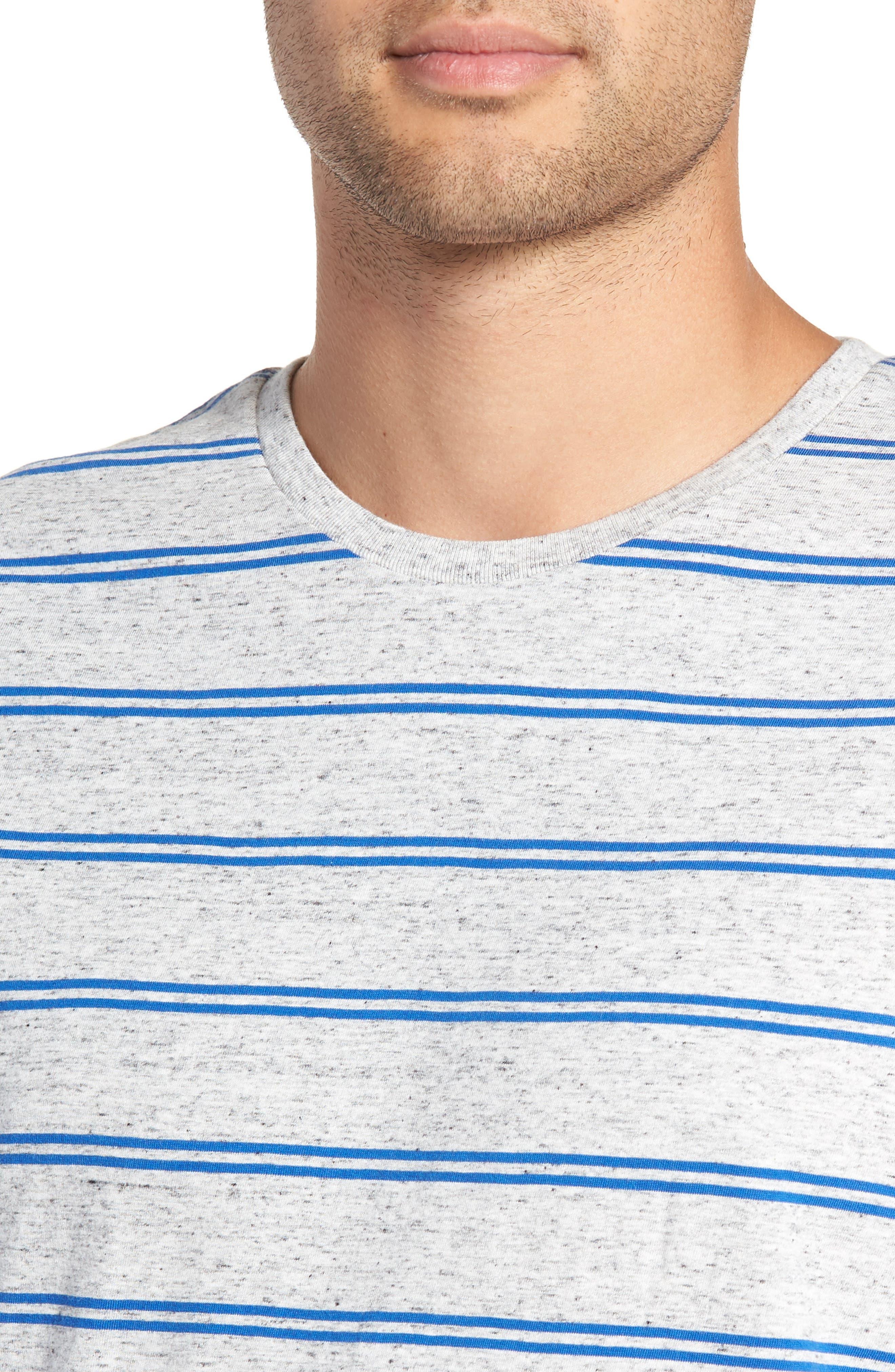 Flintlock T-Shirt,                             Alternate thumbnail 4, color,                             STORM MARLE/ COBALT