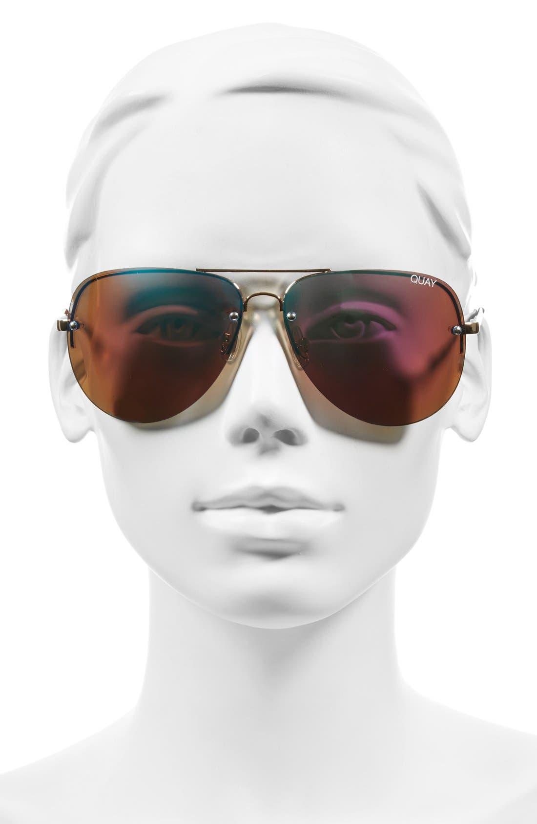 'Muse' 65mm Mirrored Aviator Sunglasses,                             Alternate thumbnail 10, color,