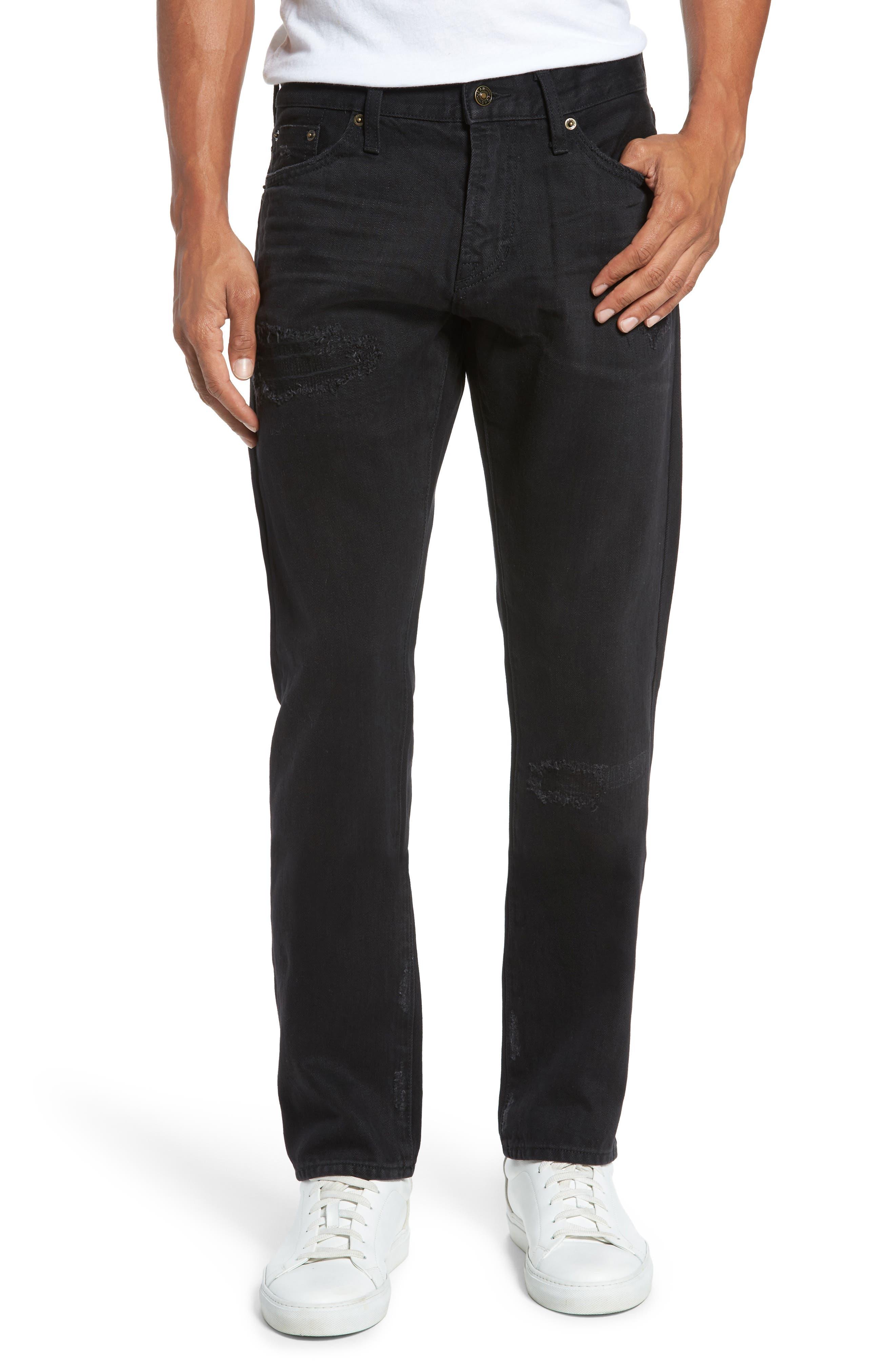 Straight Leg Selvedge Jeans,                         Main,                         color,