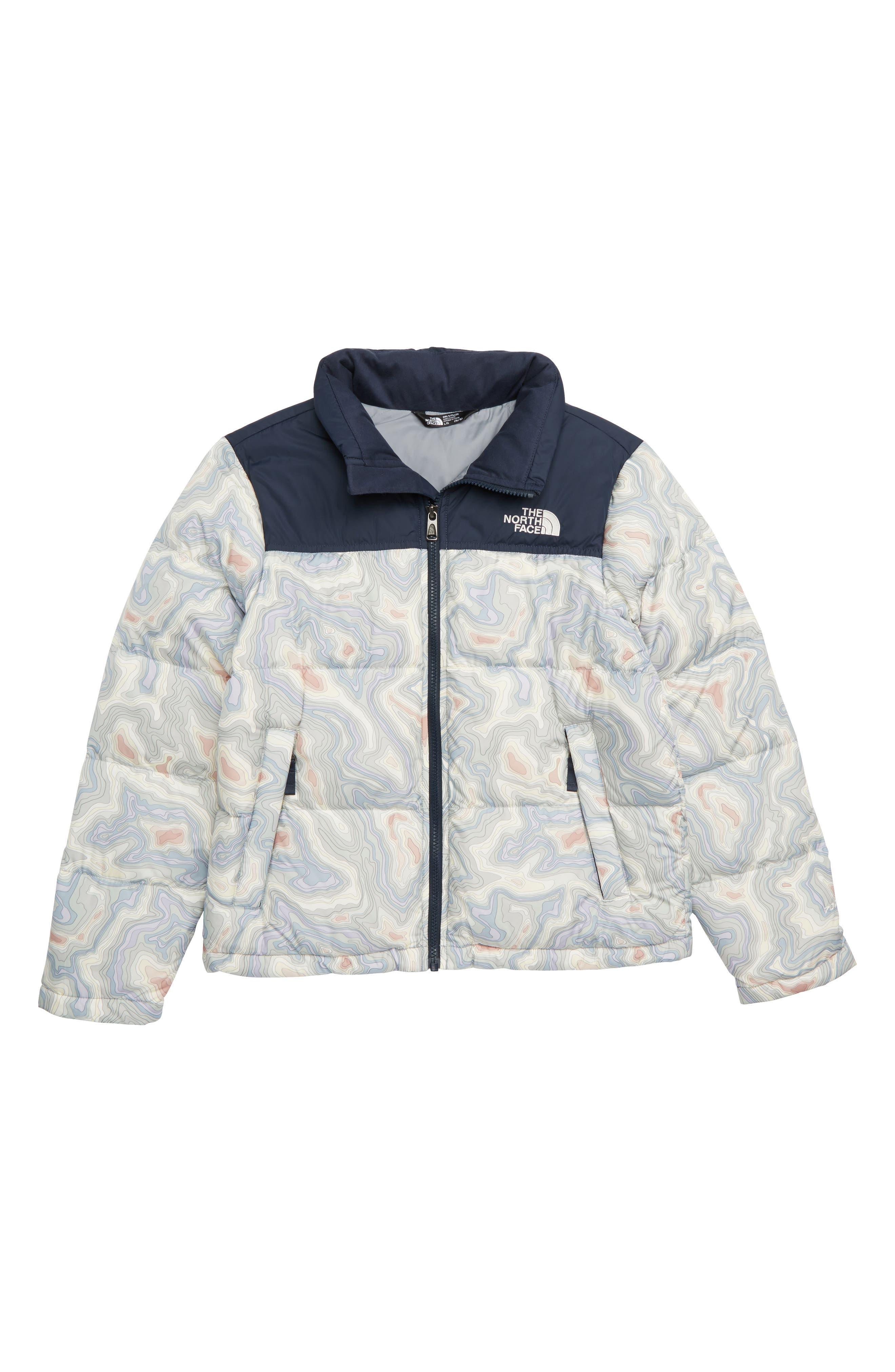 Nuptse 700 Fill Power Down Puffer Jacket,                         Main,                         color, MULTI TOPO PRINT