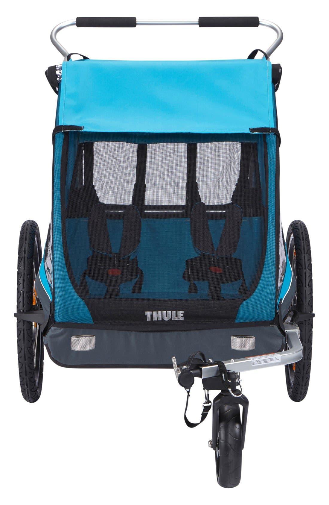 Coaster XT Double Seat Bike Trailer,                         Main,                         color, BLUE