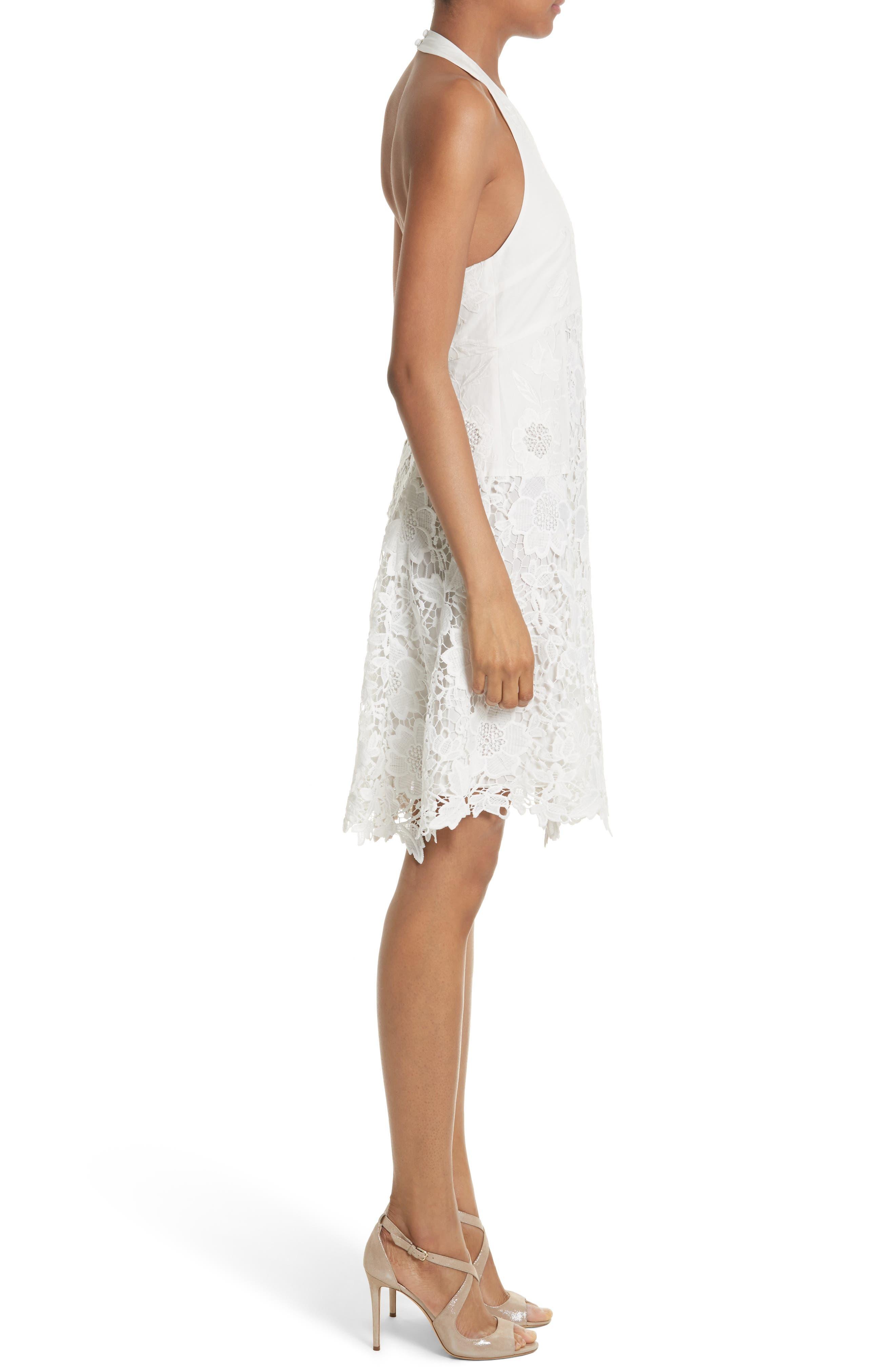 Susan Lace Halter Dress,                             Alternate thumbnail 3, color,                             127