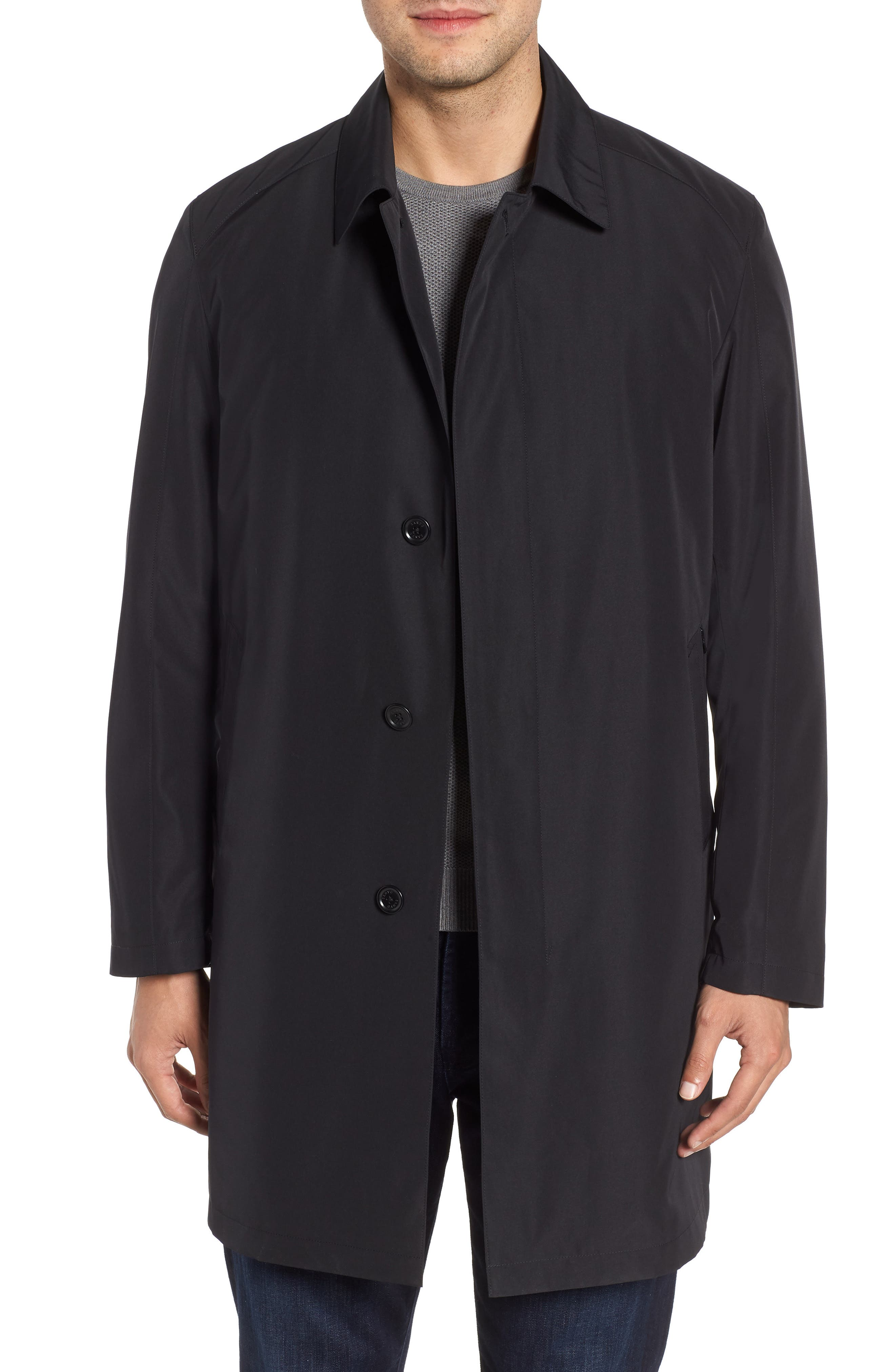 Ducasse Raincoat,                         Main,                         color, BLACK