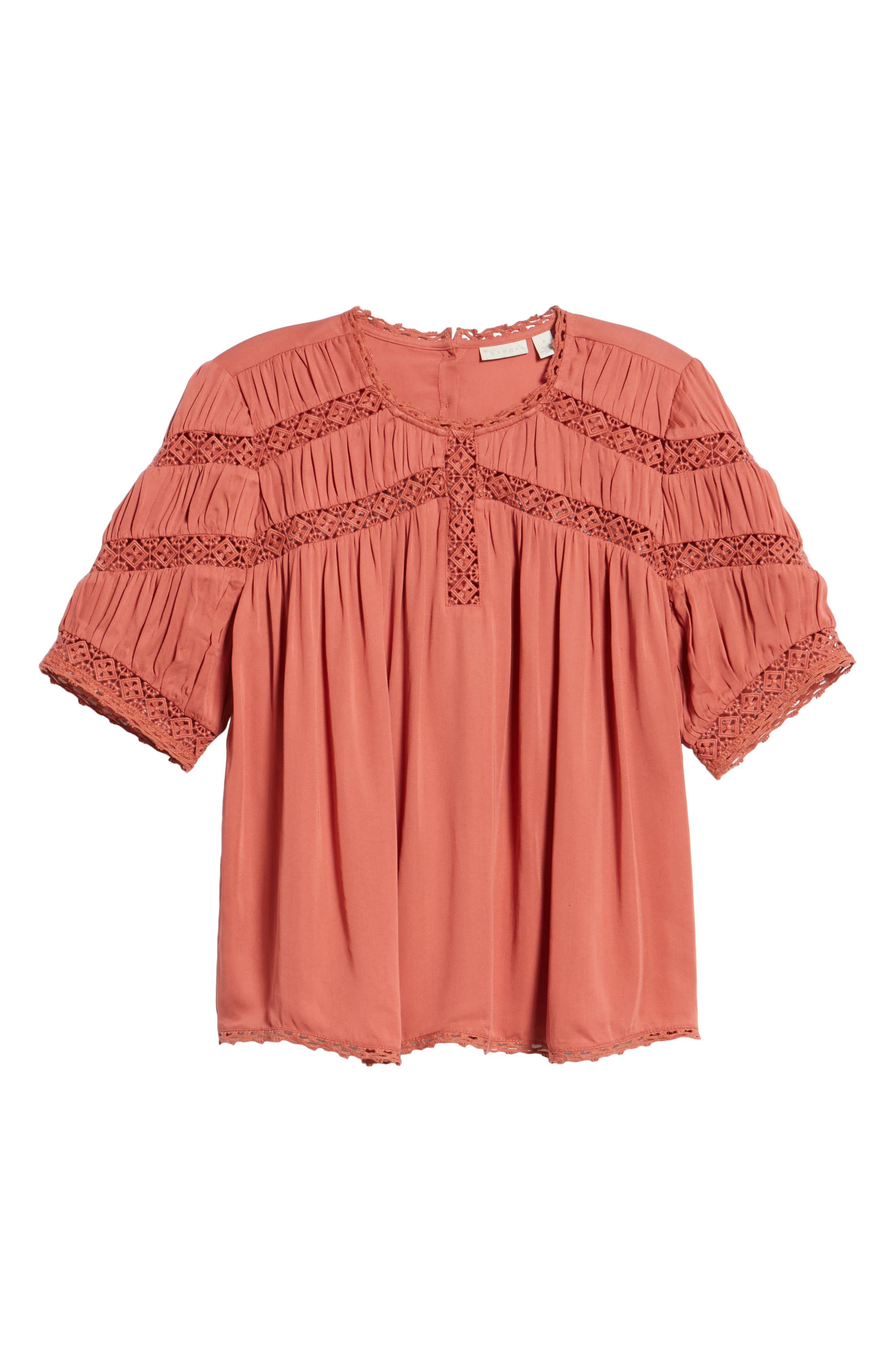 HINGE,                             Gathered Lace Top,                             Alternate thumbnail 6, color,                             660