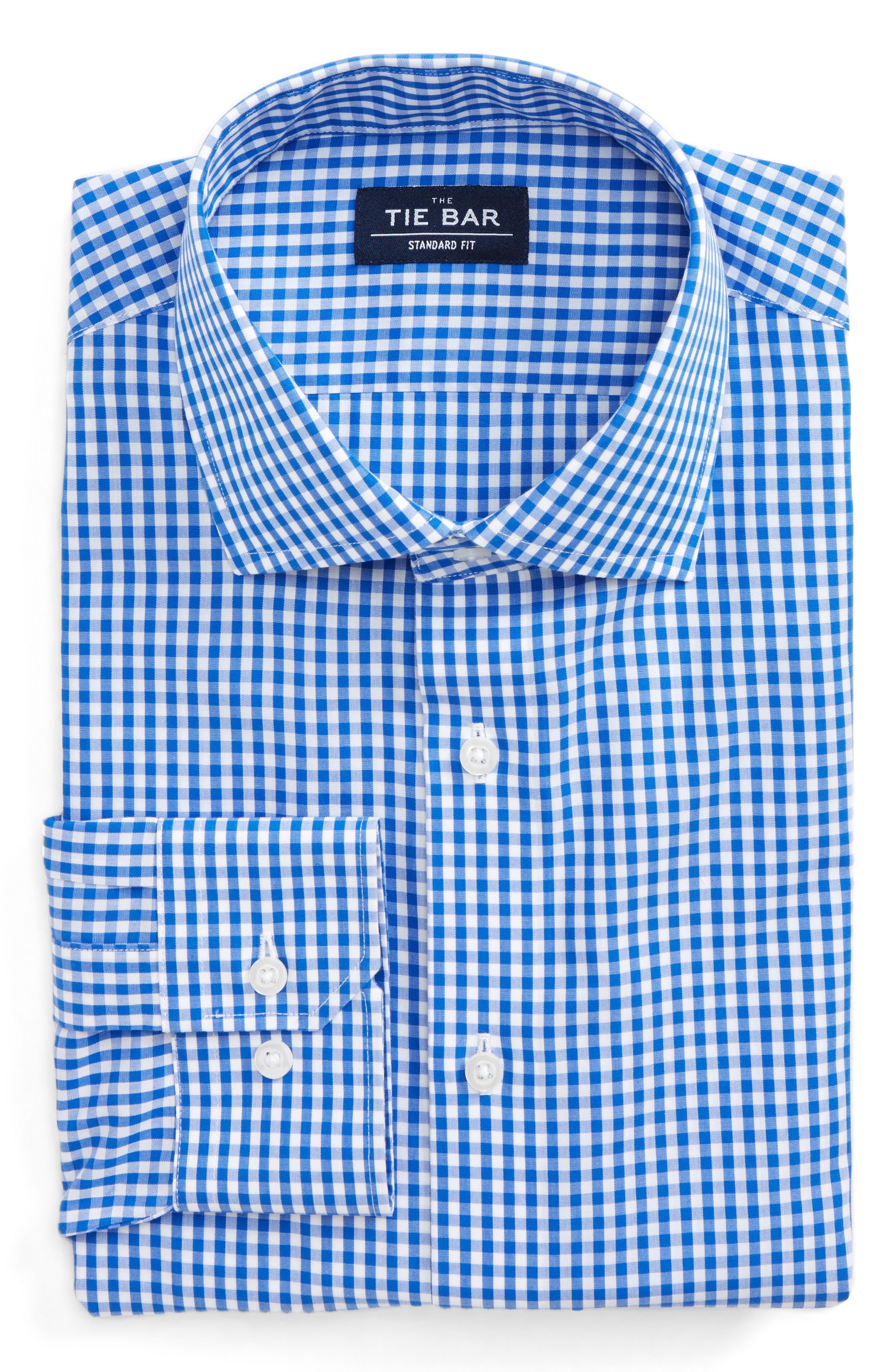 Standard Fit Check Dress Shirt,                             Main thumbnail 1, color,                             CLASSIC BLUE