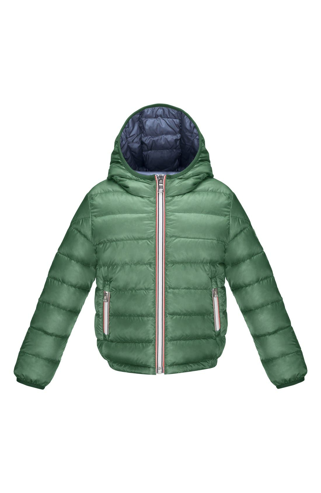 'Athenes' Hooded Down Jacket, Main, color, 307