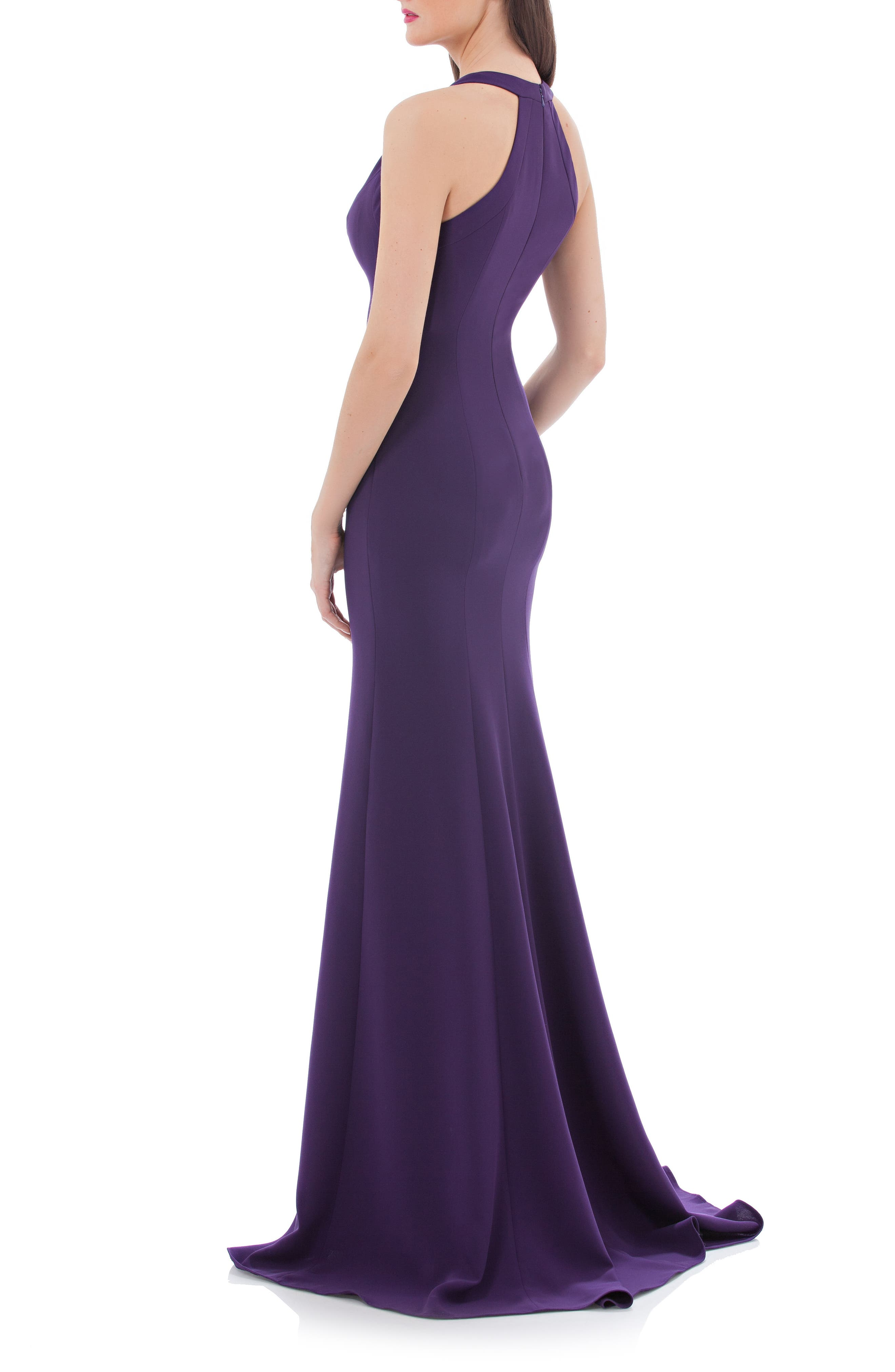 V-Neck Halter Style Gown,                             Alternate thumbnail 2, color,                             506
