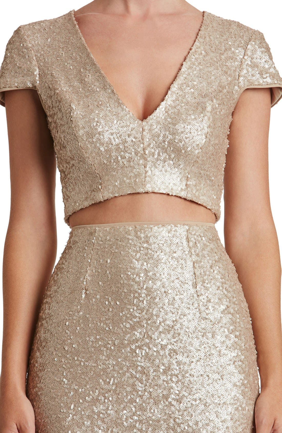 Cara Two-Piece Gown,                             Alternate thumbnail 16, color,