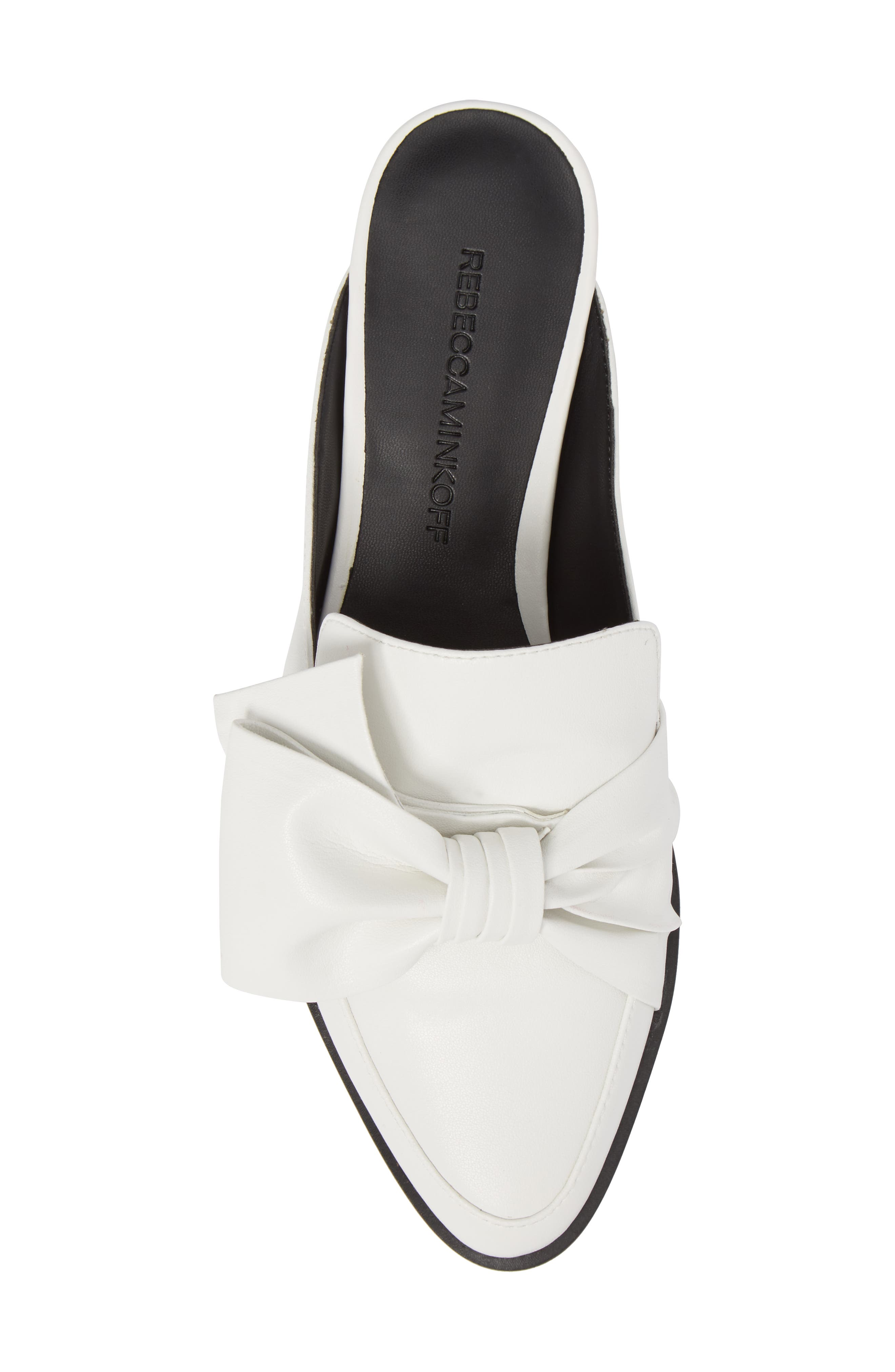 Mabel Loafer Mule,                             Alternate thumbnail 5, color,                             OPTIC WHITE LEATHER