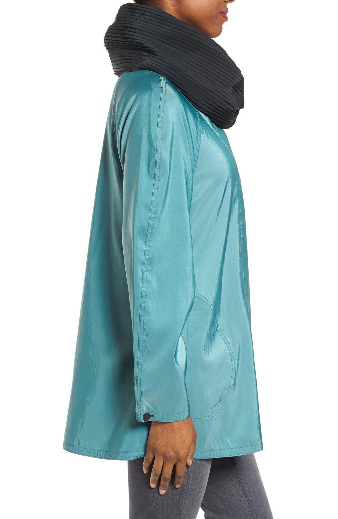 'Mini Donatella' Reversible Pleat Hood Packable Travel Coat,                             Alternate thumbnail 80, color,