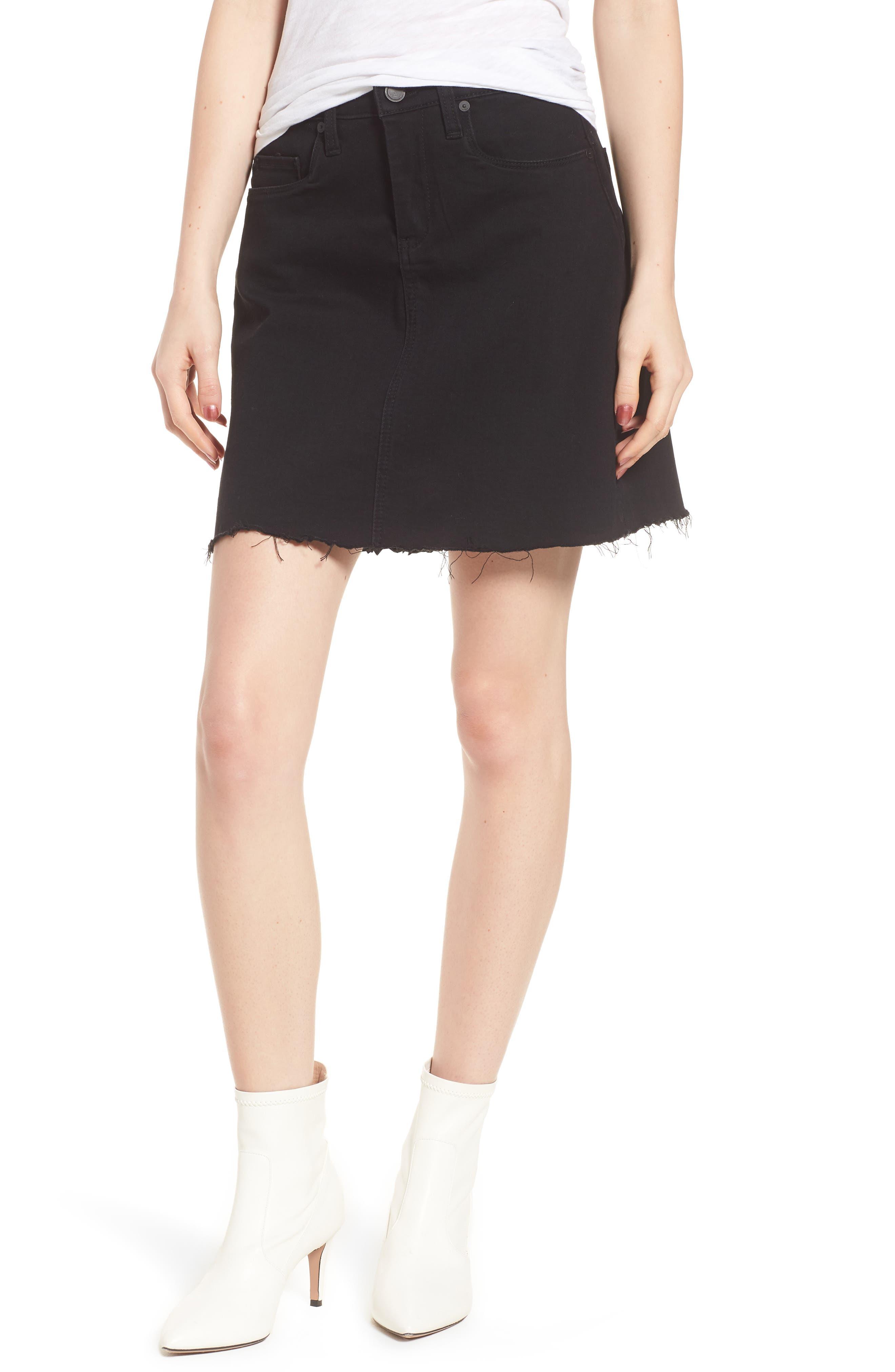 Blanknyc Denim Skirt, 7 - Black