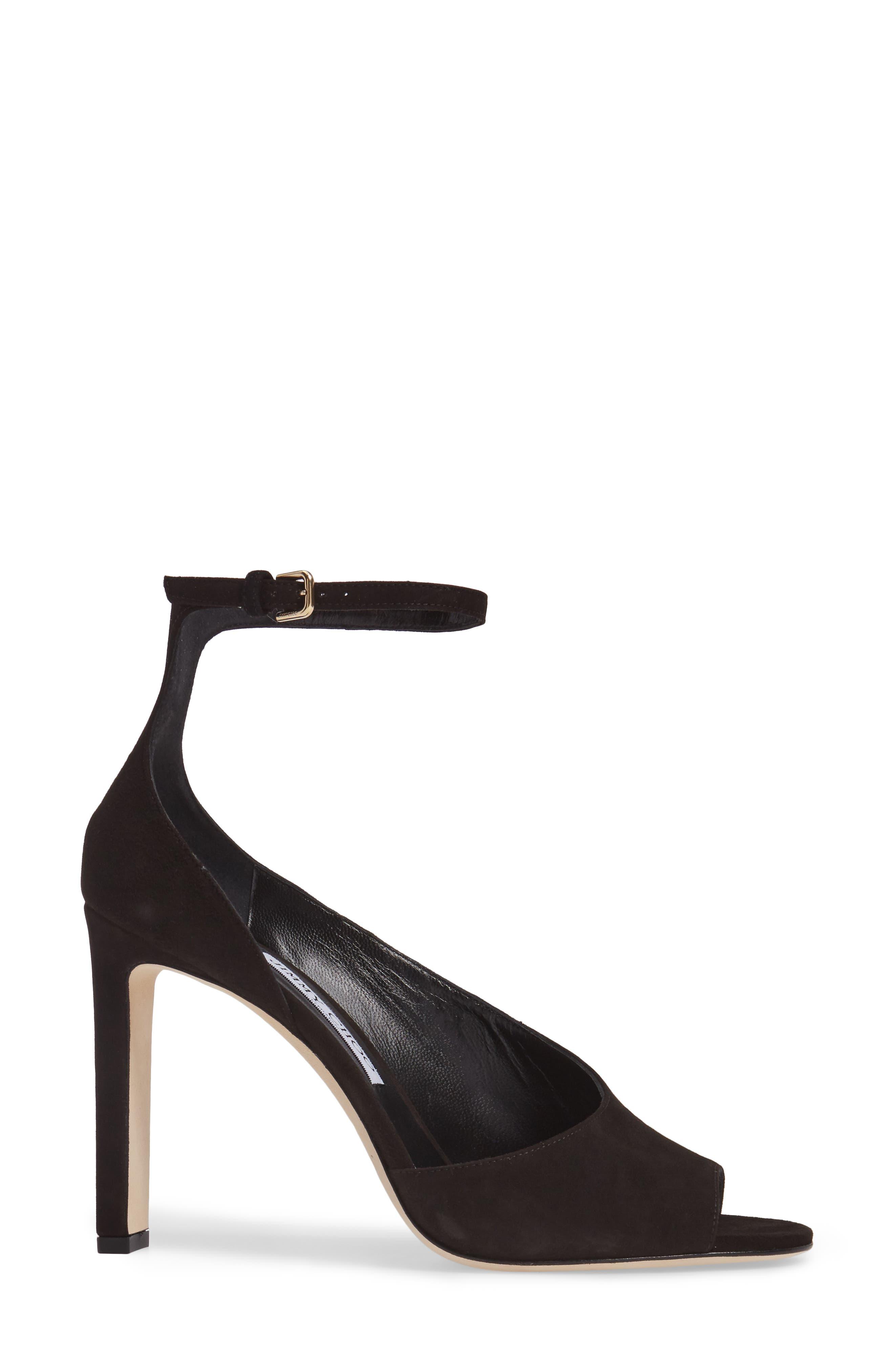 Theresa Ankle Strap Sandal,                             Alternate thumbnail 3, color,                             001