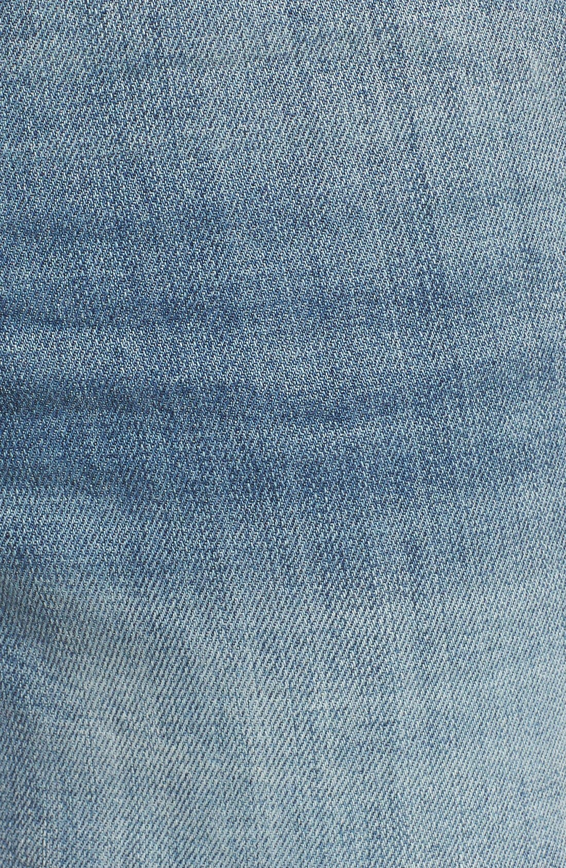 'Gidget' Denim Cutoff Shorts,                             Alternate thumbnail 5, color,                             420