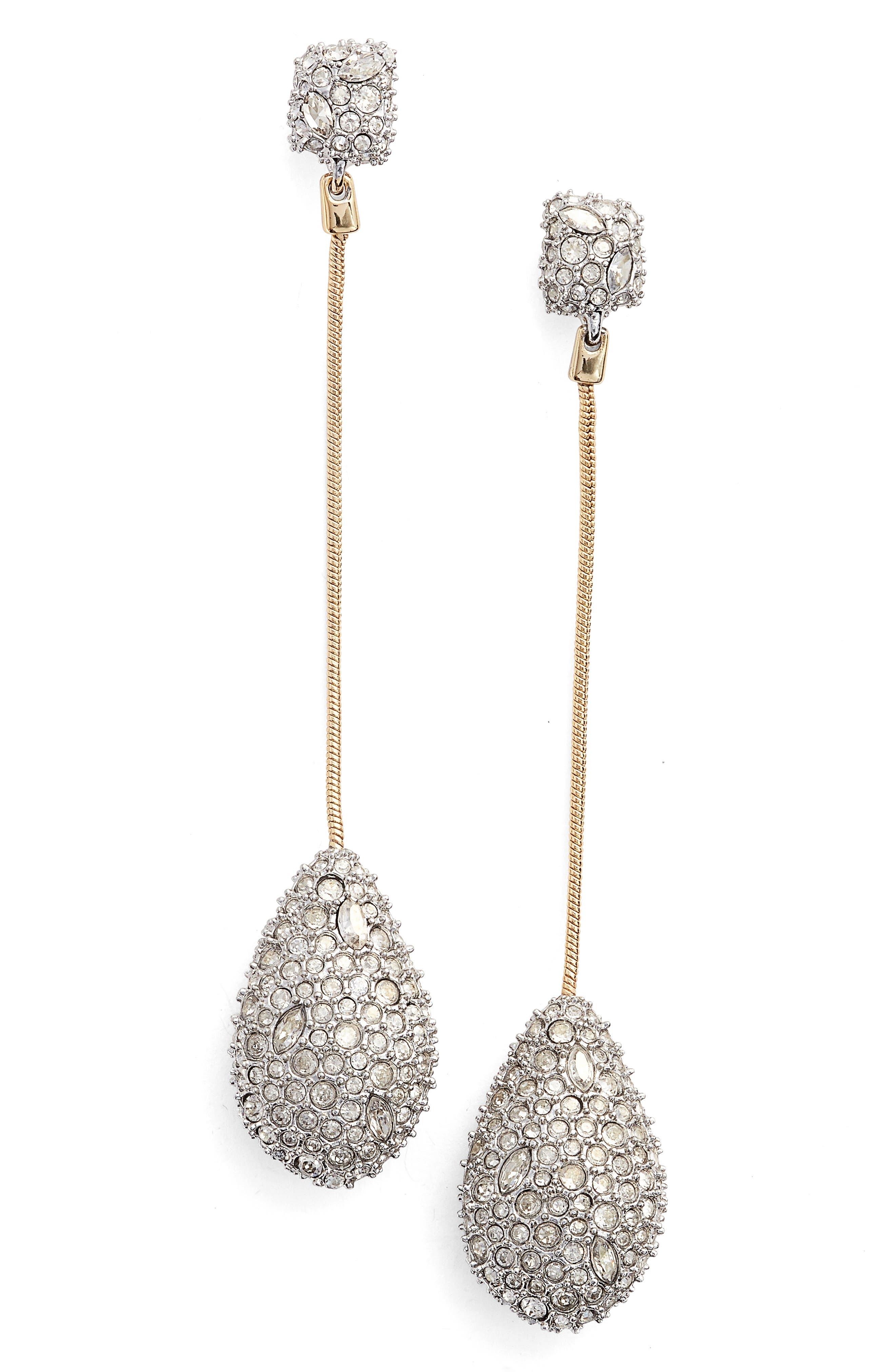 Elements Long Teardrop Earrings,                         Main,                         color, GOLD