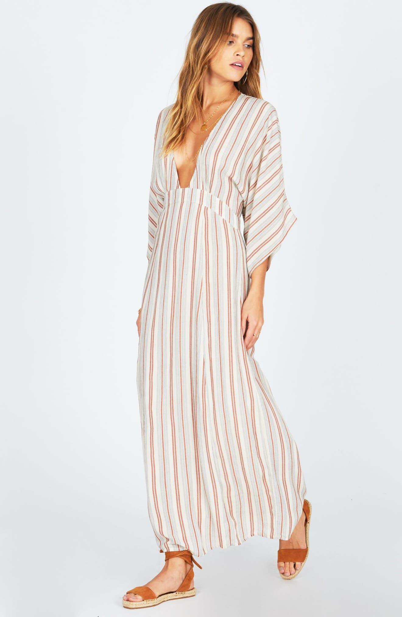 Forever & Day Stripe Maxi Dress,                             Alternate thumbnail 7, color,