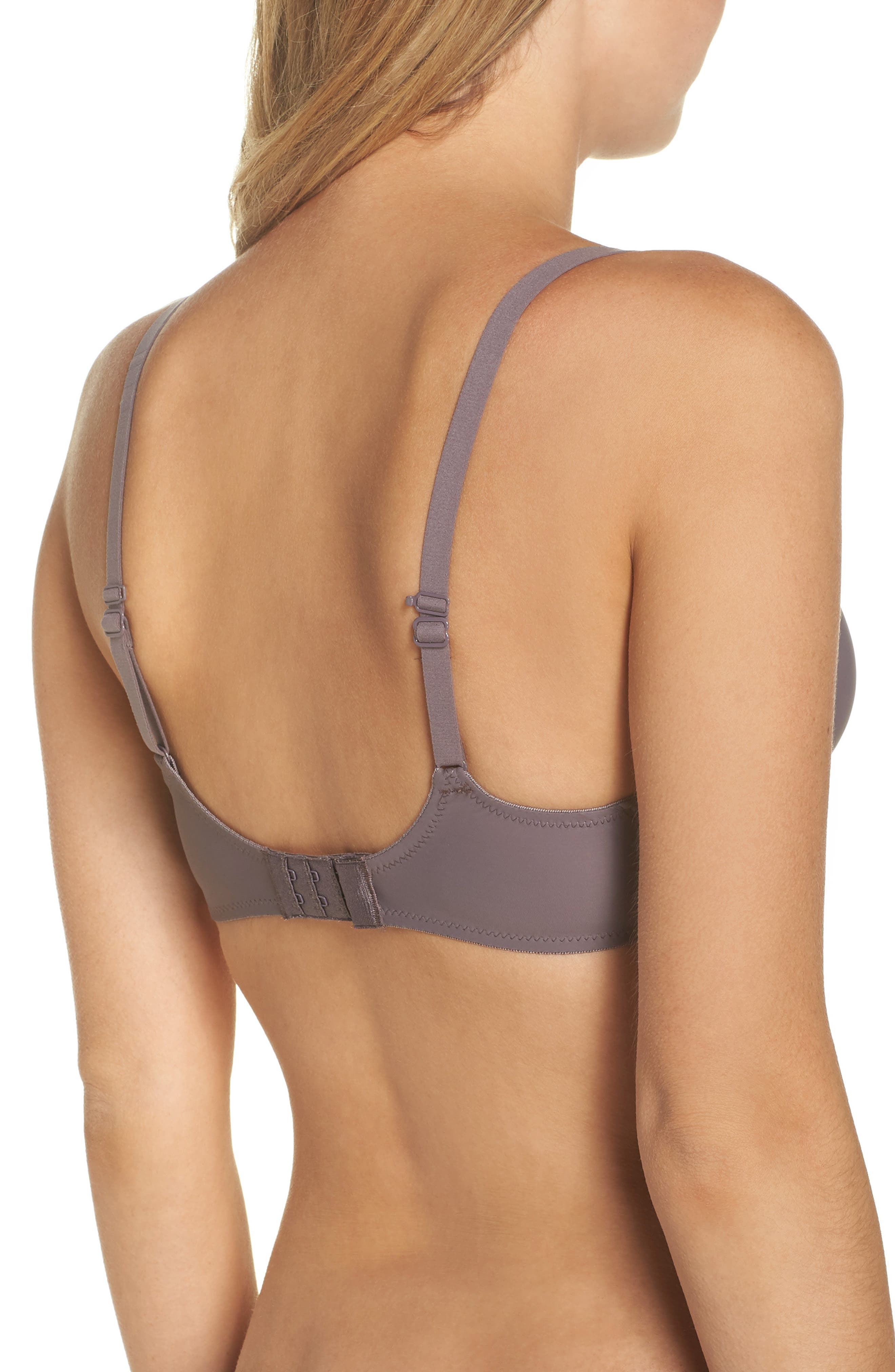 Feel Good Underwire Plunge Bra,                             Alternate thumbnail 2, color,                             TAUPE