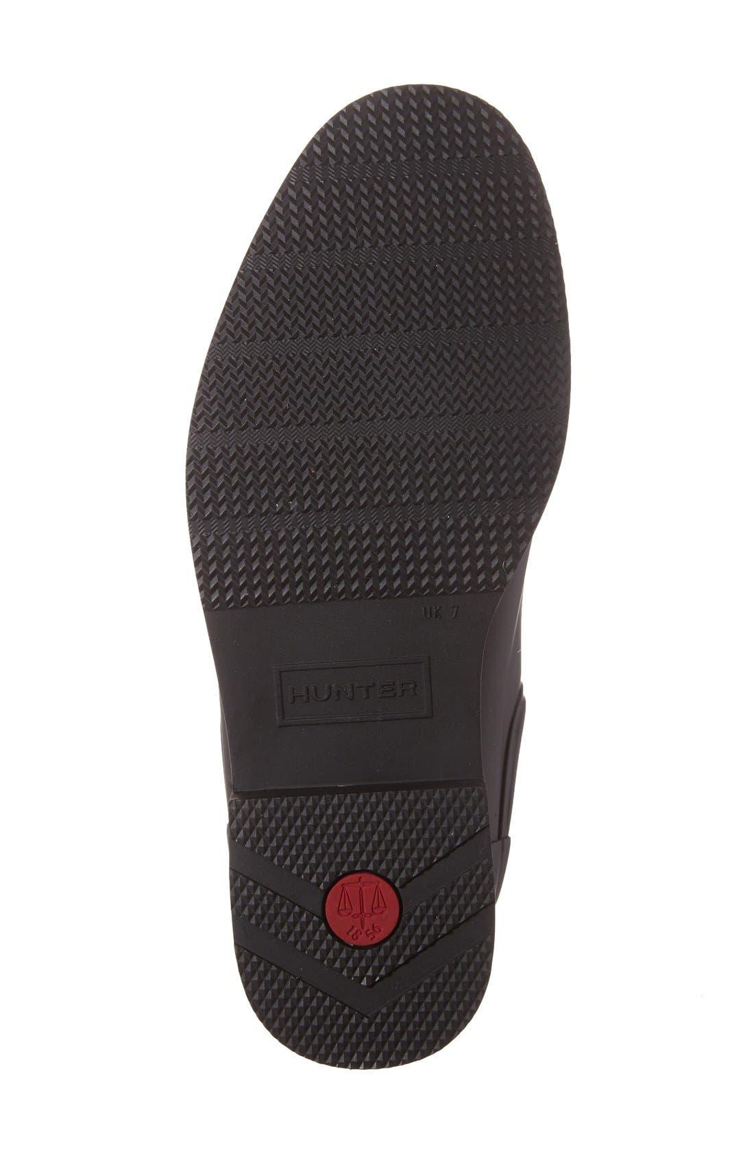 Original Refined Waterproof Chelsea Boot,                             Alternate thumbnail 3, color,                             BLACK RUBBER