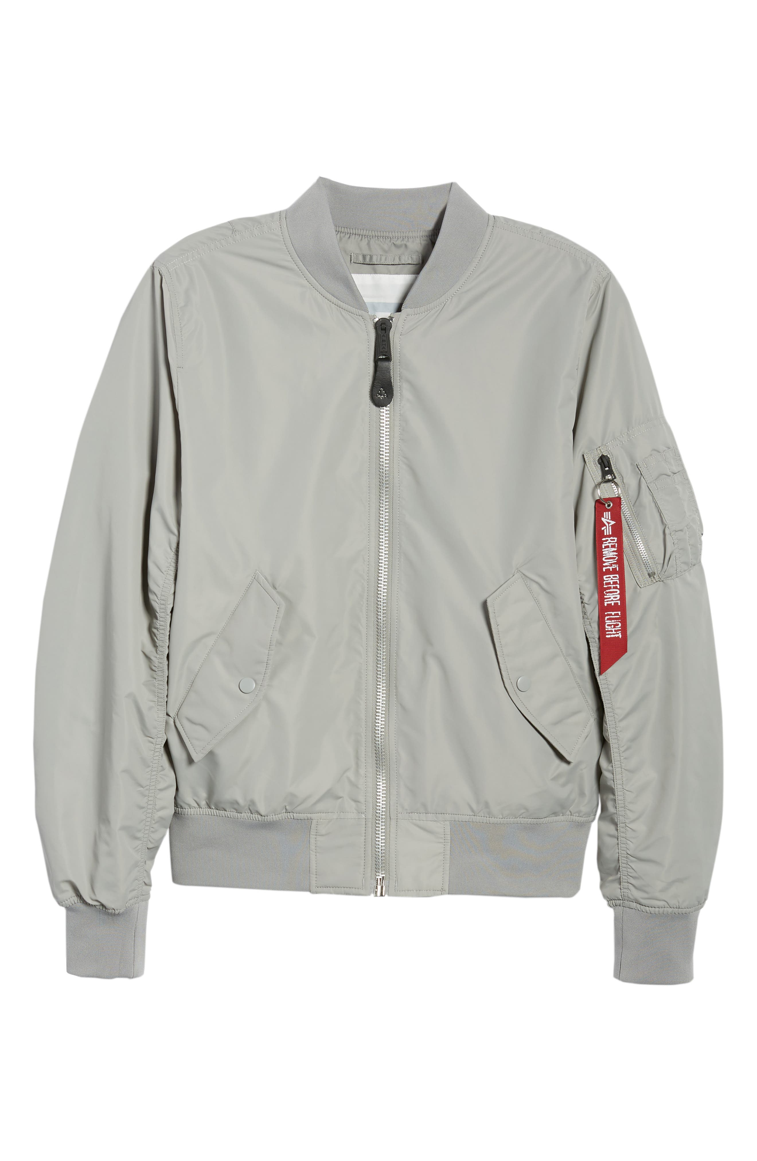 ALPHA INDUSTRIES,                             'L-2B - Dragonfly' Water Resistant Reversible Flight Jacket,                             Alternate thumbnail 5, color,                             020