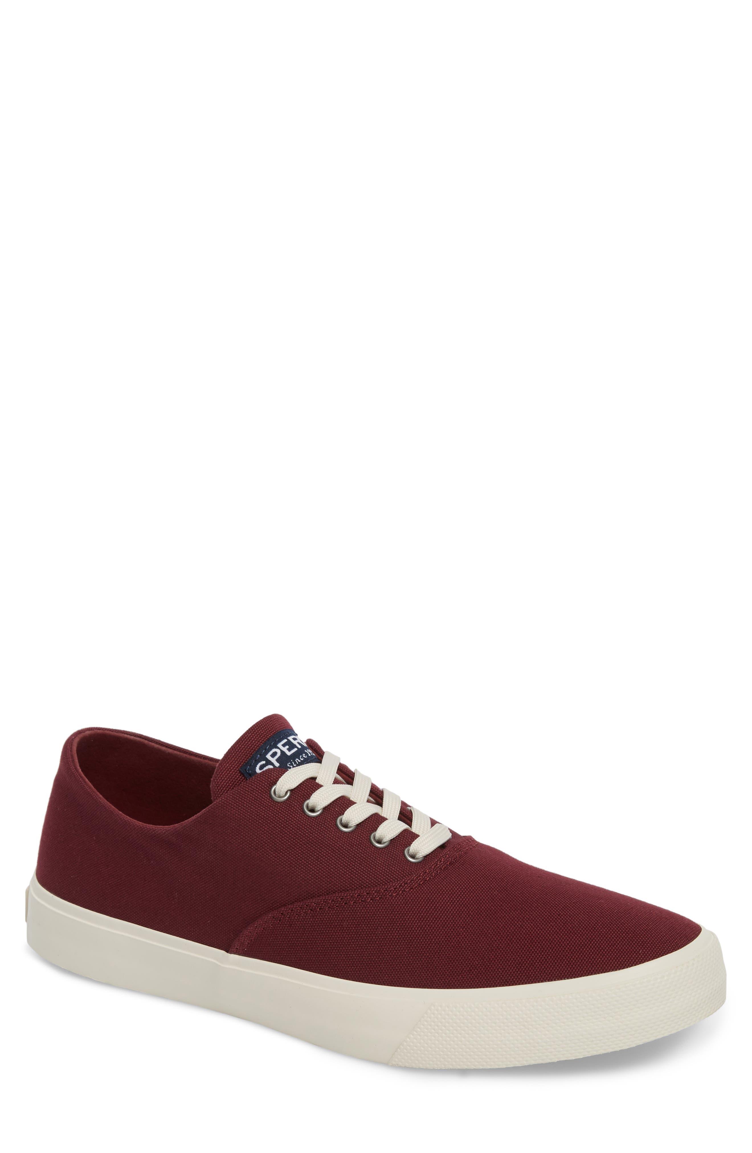 Captain's CVO Sneaker,                         Main,                         color, WINE FABRIC