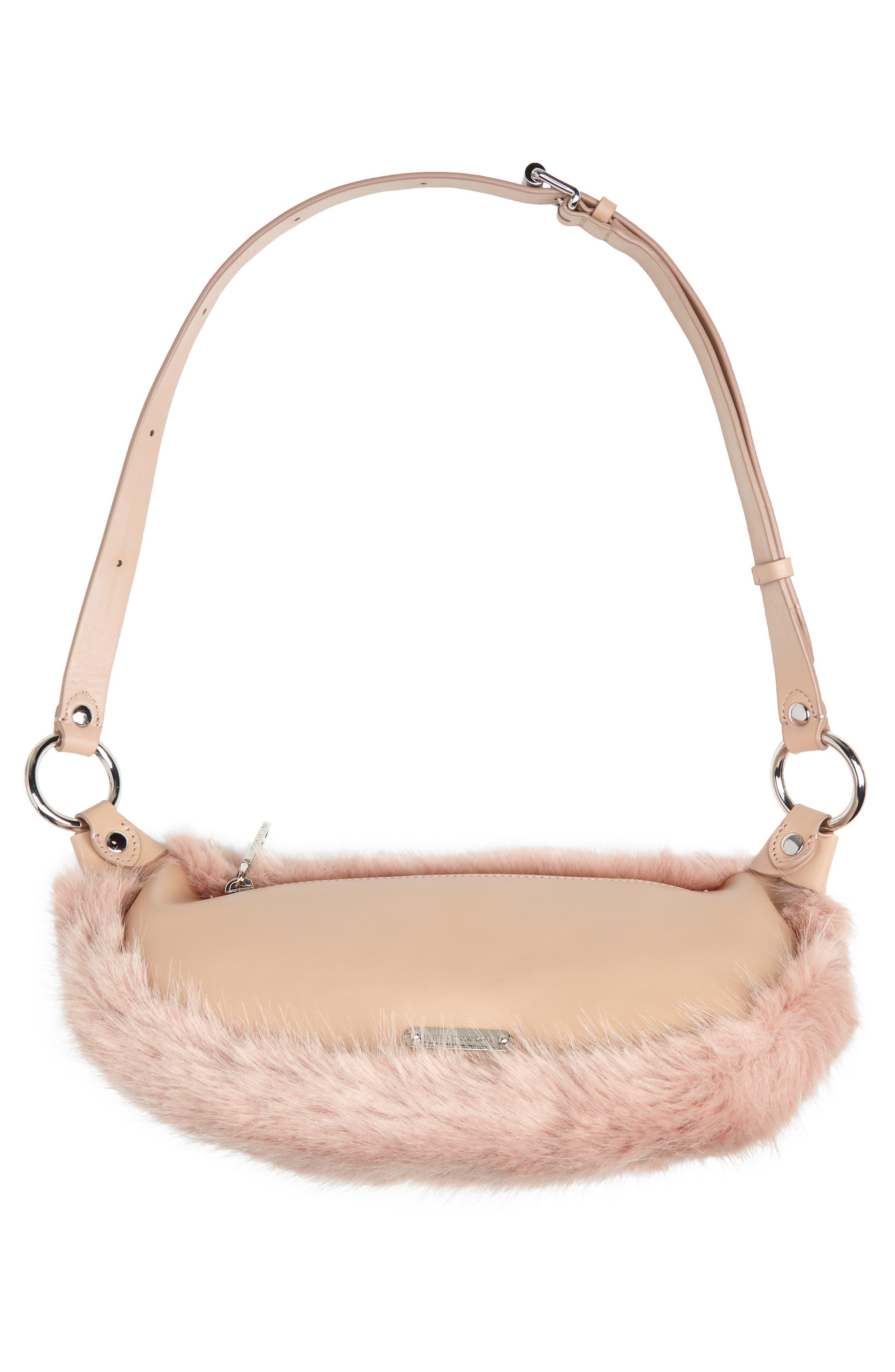 REBECCA MINKOFF,                             Faux Fur Belt Bag,                             Alternate thumbnail 7, color,                             250