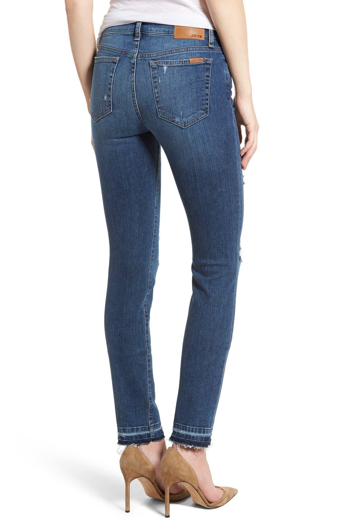Cigarette Skinny Jeans,                             Alternate thumbnail 6, color,                             410