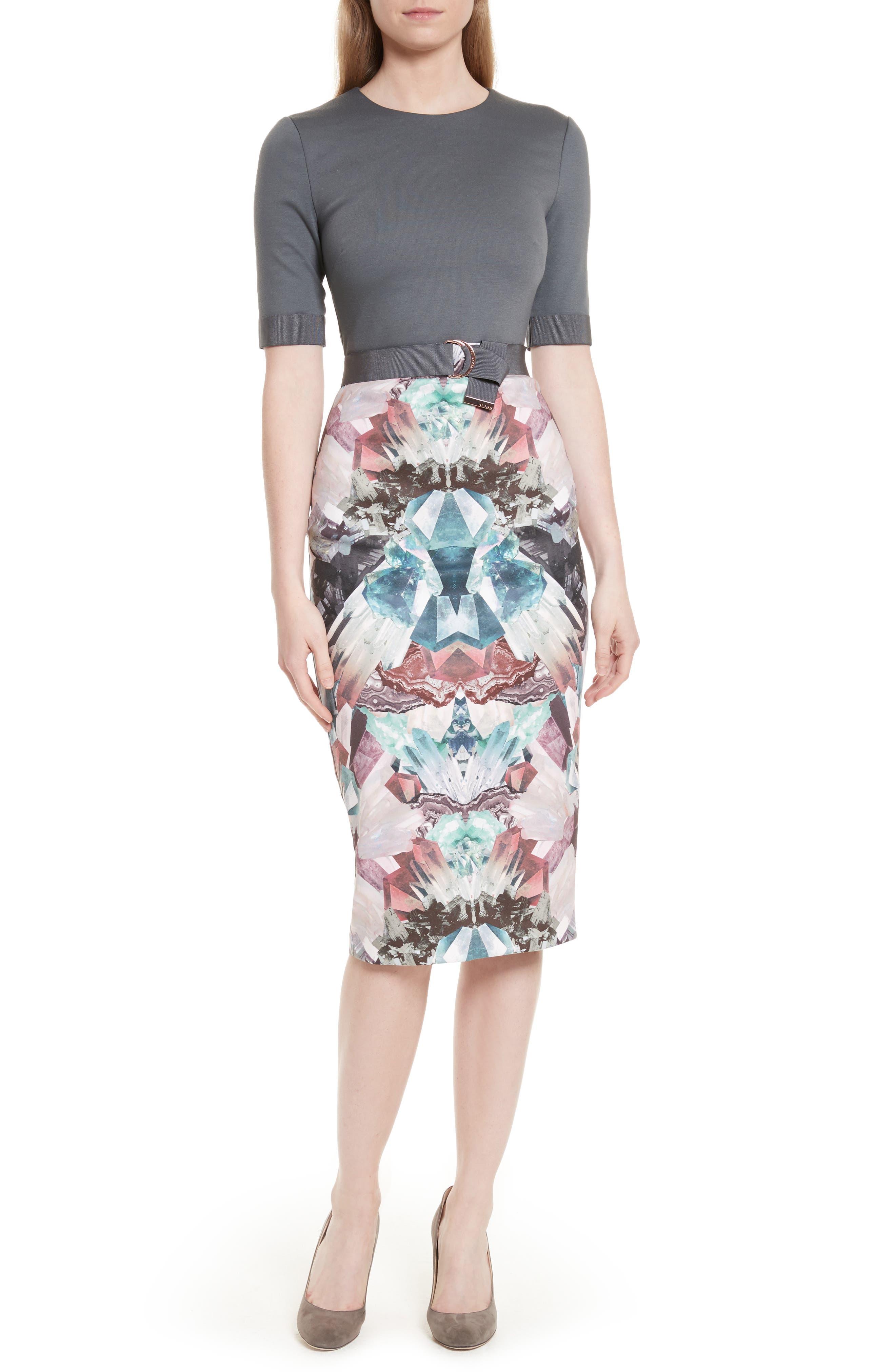 Anaste Mirror Minerals Print Dress,                         Main,                         color, 021