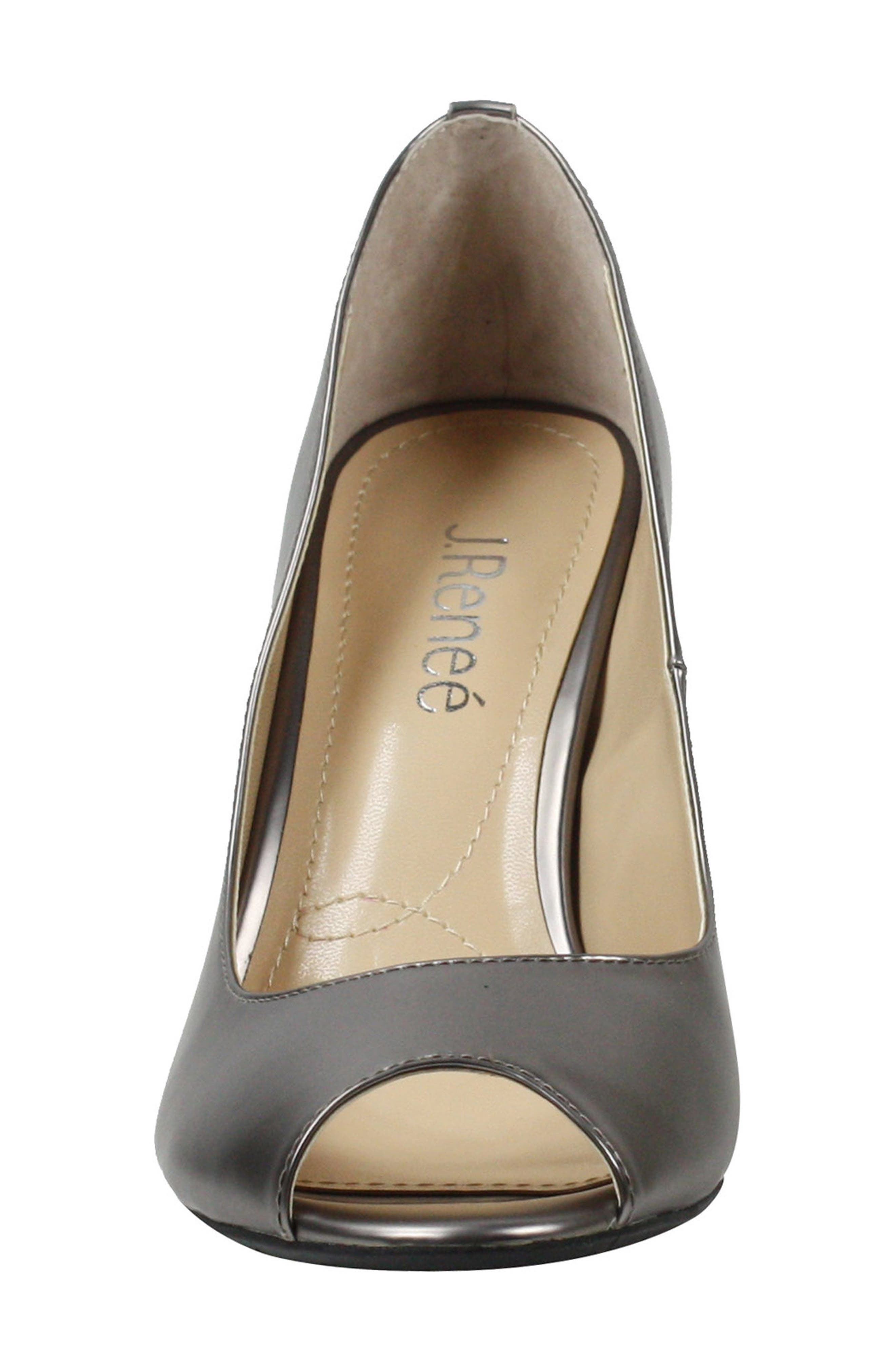 Lucera Pump,                             Alternate thumbnail 4, color,                             PEWTER FAUX LEATHER